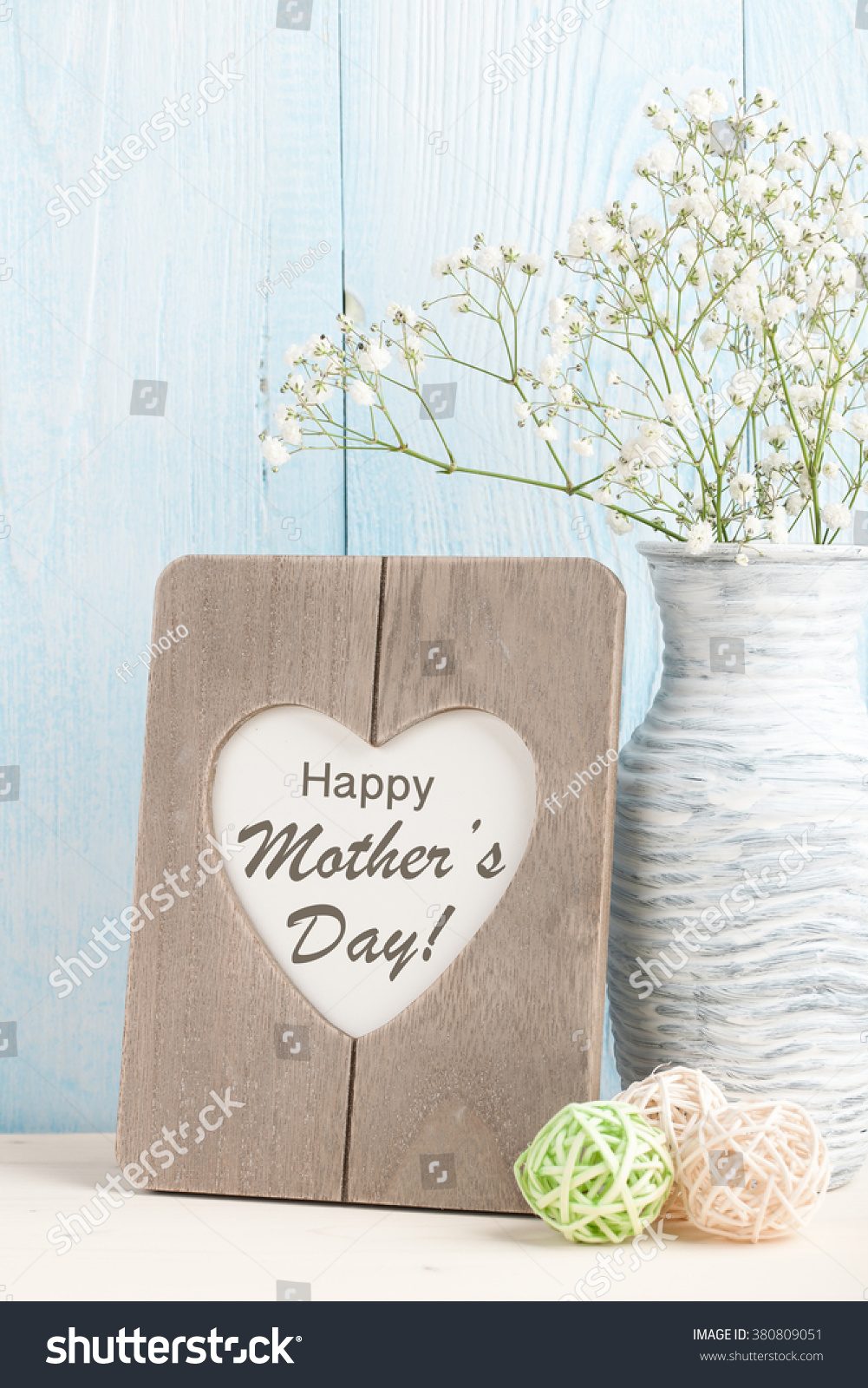 Greeting Message Mothers Day Stock Photo Royalty Free 380809051