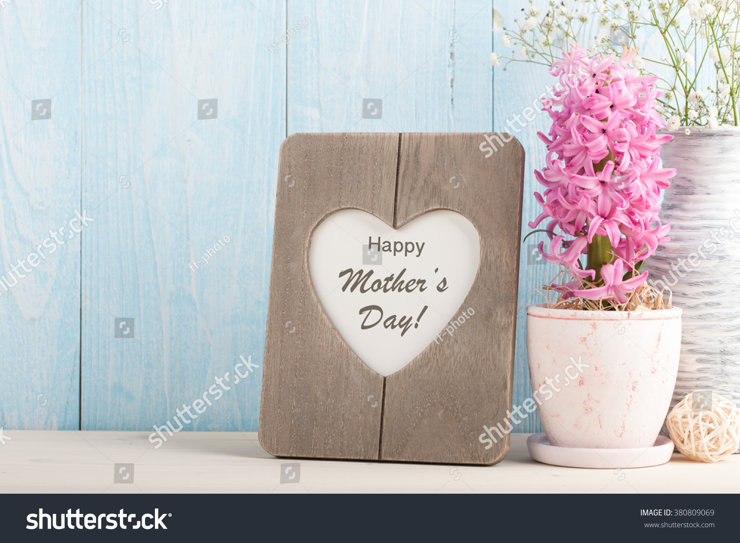 Greeting Message Mothers Day Stock Photo Royalty Free 380809069