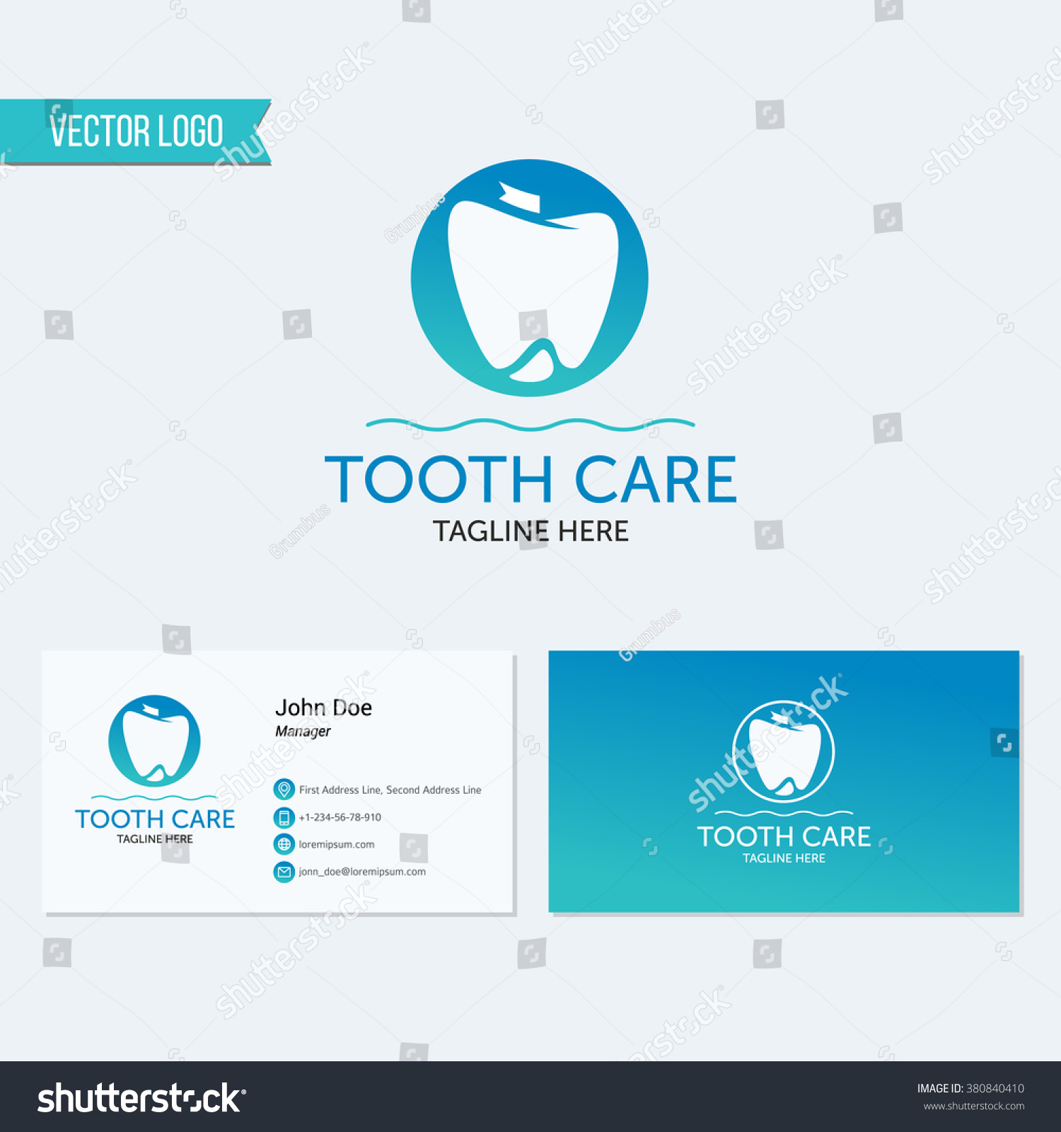 Abstract Dental Logo Template Dental Dentist Stock Vector