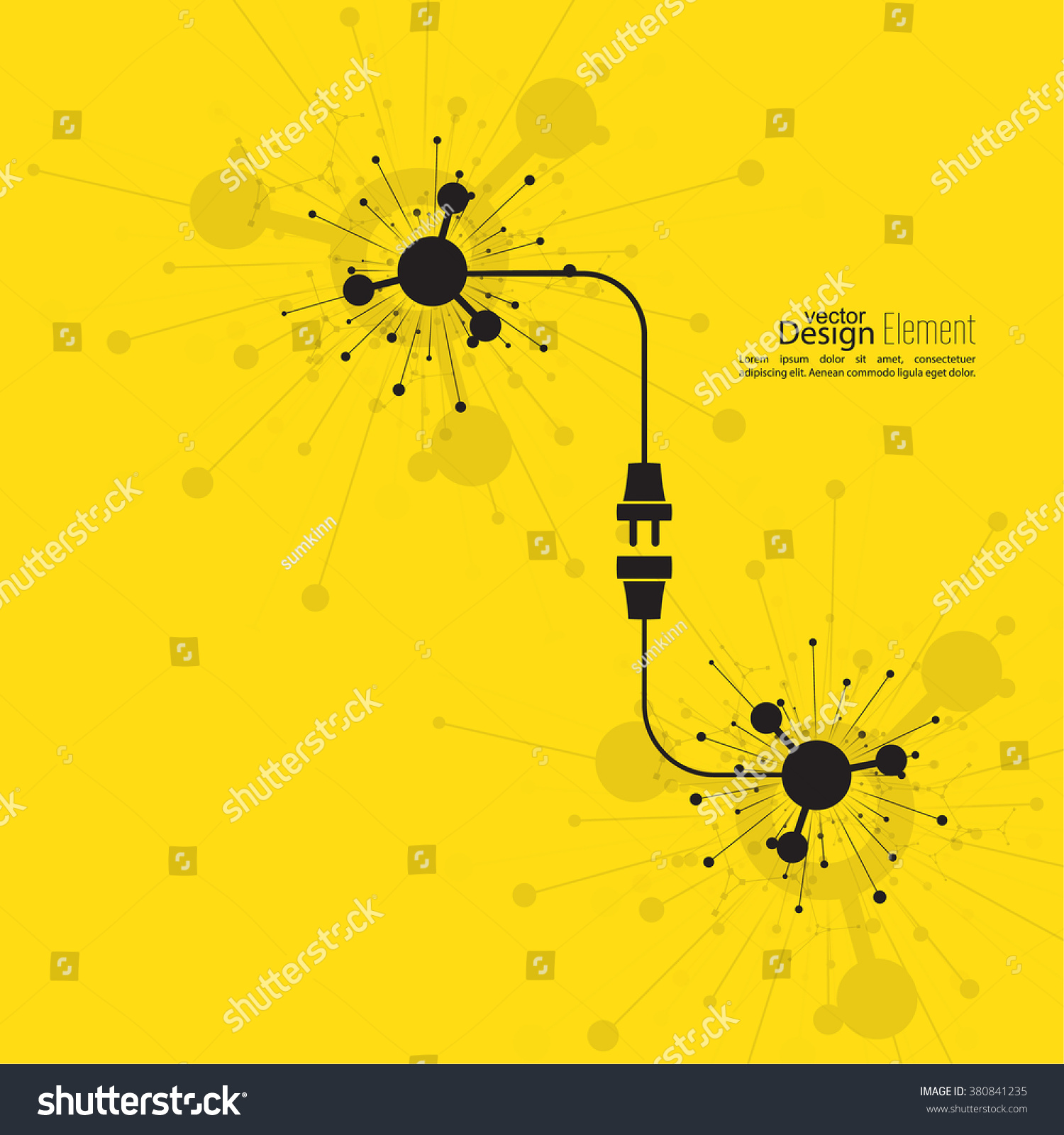 Contemporary Abstract Background Wire Plug Socket Stock Vector Sockets And Wiring For Electricity Royalty Free Image With Concept Connection Disconnection