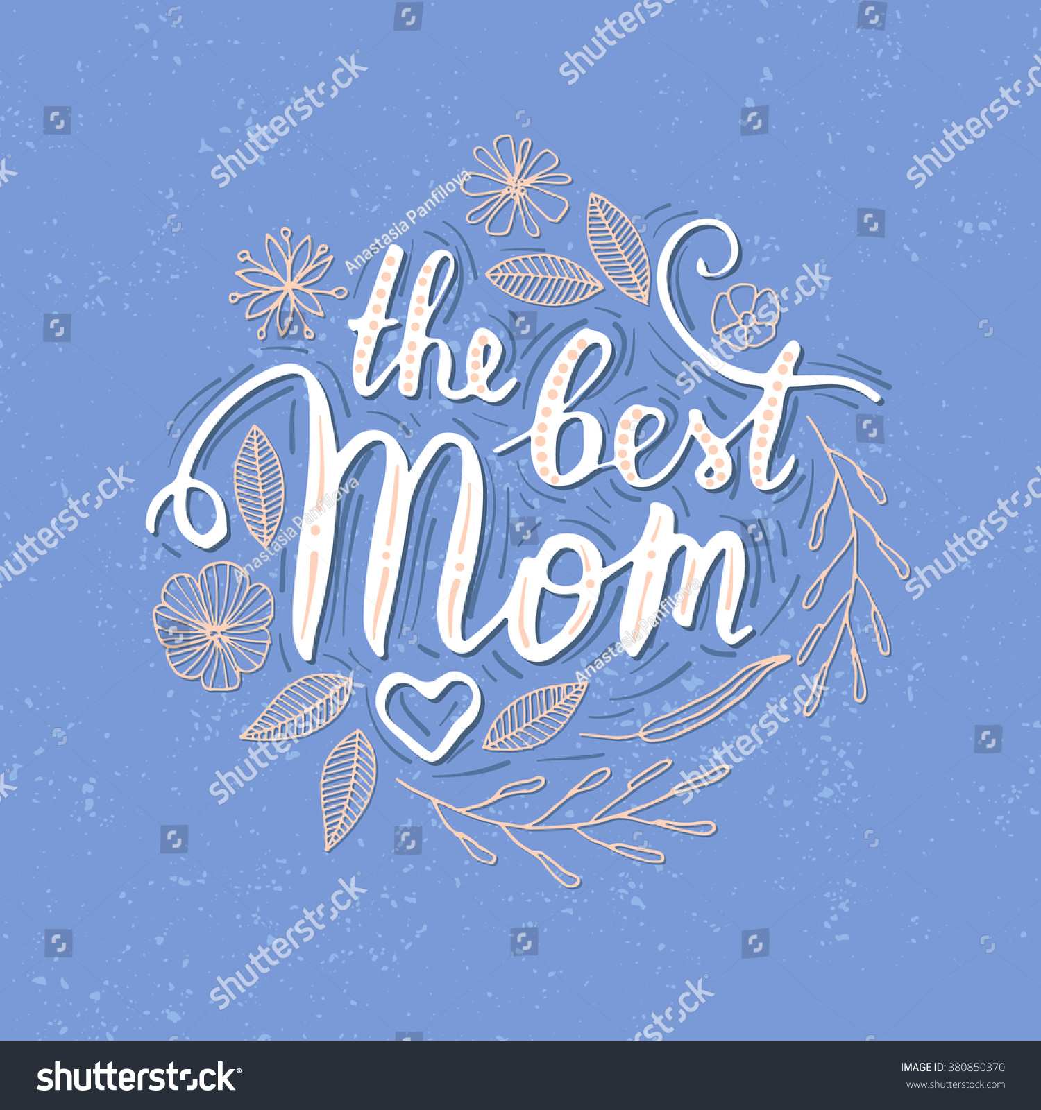 Shirt design card - Vector Hand Written Quote The Best Mom T Shirt Poster