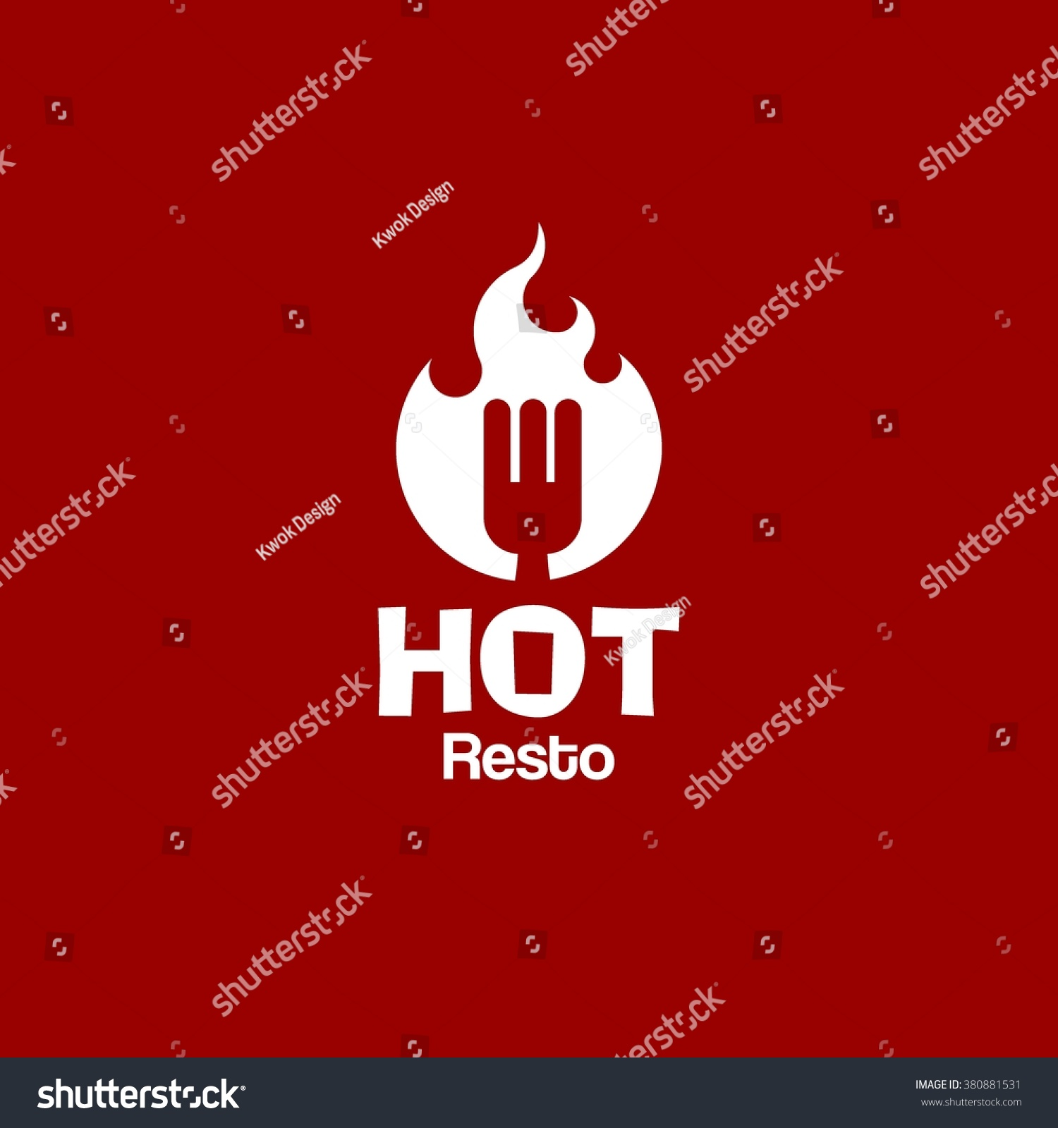 food service vector logo fast food stock vector 380881531