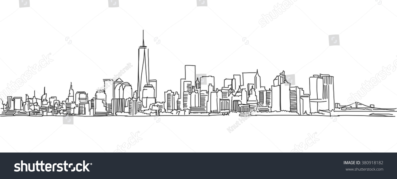 city skyline outline simple - photo #38
