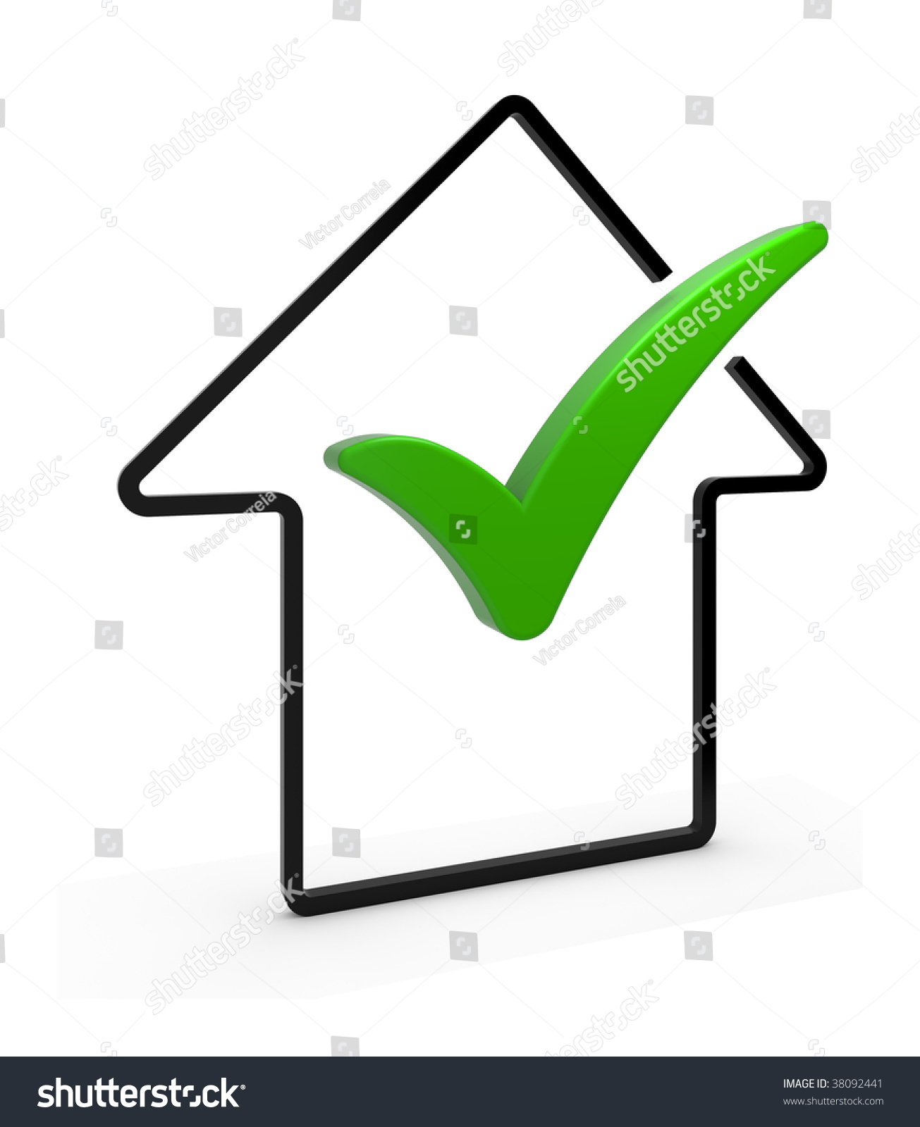 Upload Complete Symbol Arrow Check Mark Stock Illustration 38092441
