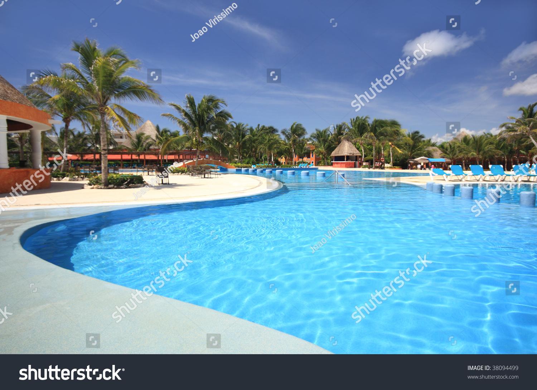 Swimming Pool Travel : Beach tourist resort swimming pool travel tourism