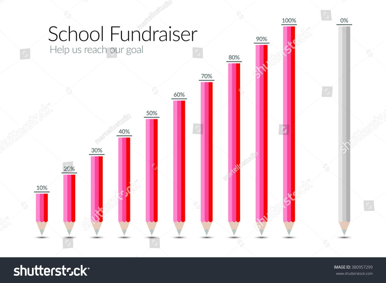 fundraiser goal chart