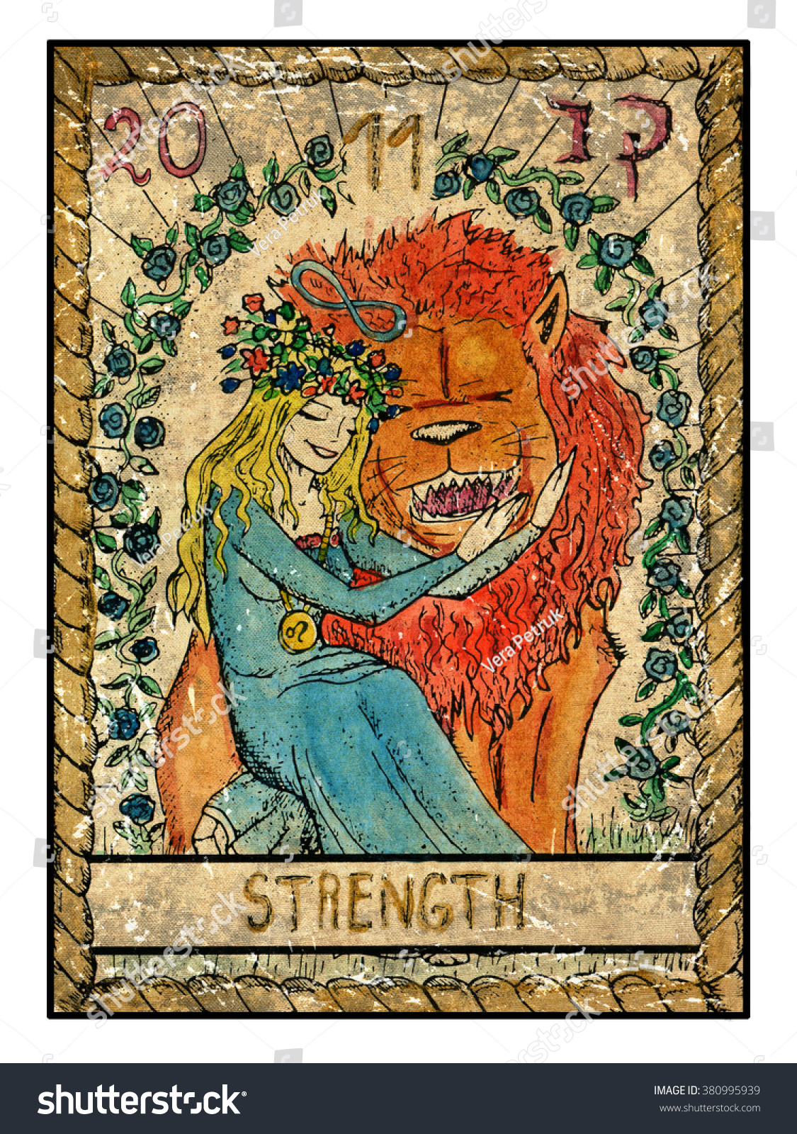 Strength Full Colorful Deck Major Arcana Stock