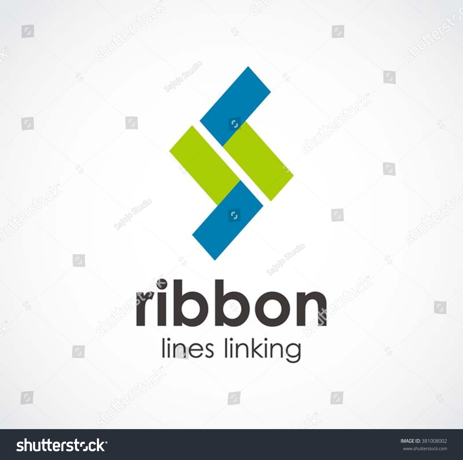 Ribbon Letter S Lines Abstract Vector Vector 381008002 – Linking Agreement Template