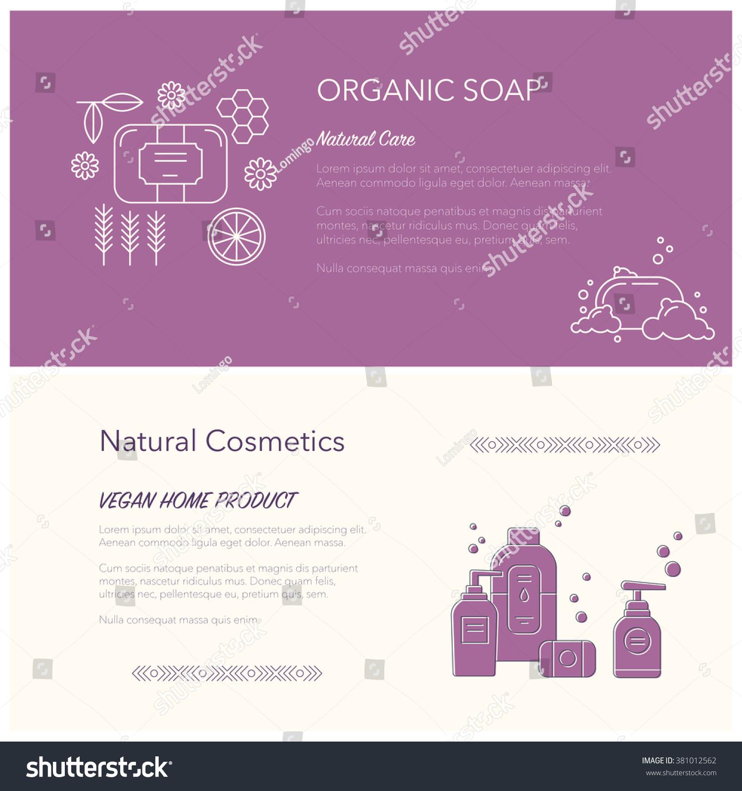 Flyer Banner Templates Soap Cosmetics Elements Stock Vector Royalty