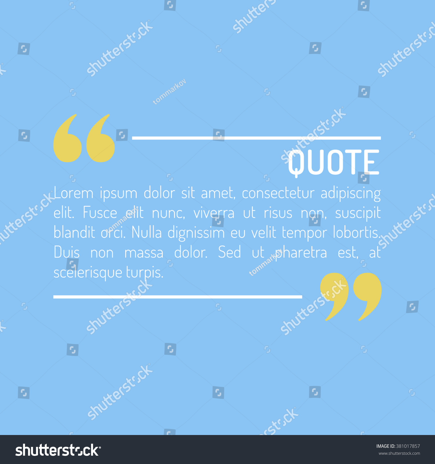 quotes template flat style colored flat stock vector  quotes template in flat style colored flat quotes vector