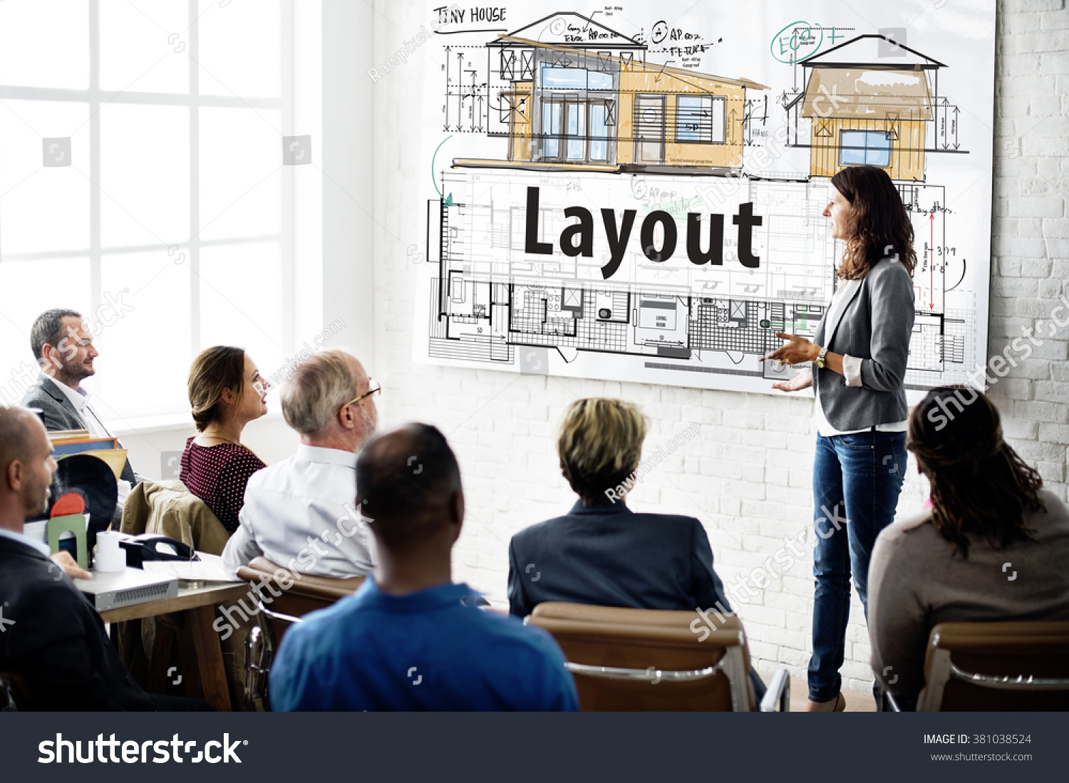 Layout blueprint design construction editing concept stock photo layout blueprint design construction editing concept malvernweather Choice Image