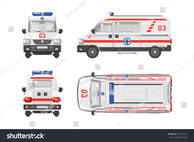 set stock vector illustration isolated ambulance stock