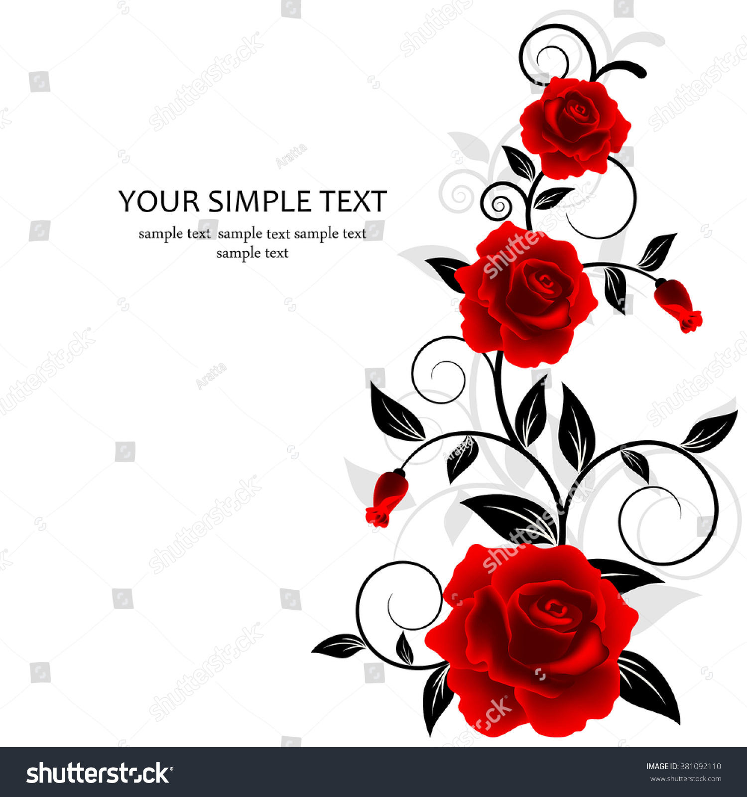 Wedding Card Invitation Abstract Floral Background Stock Image