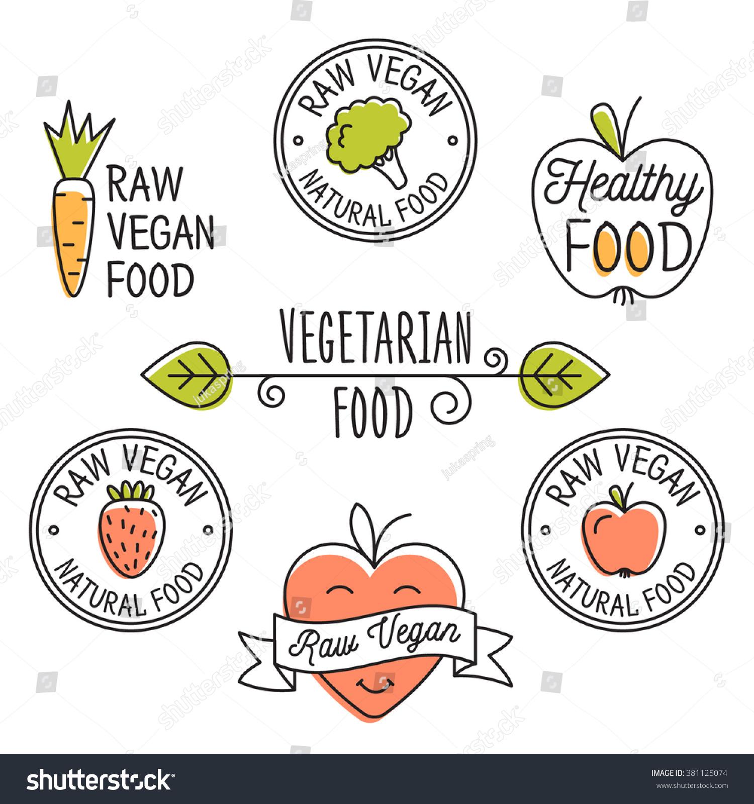 Raw Vegan Detox Organic Labels Logo Stock Vector 381125074 ...