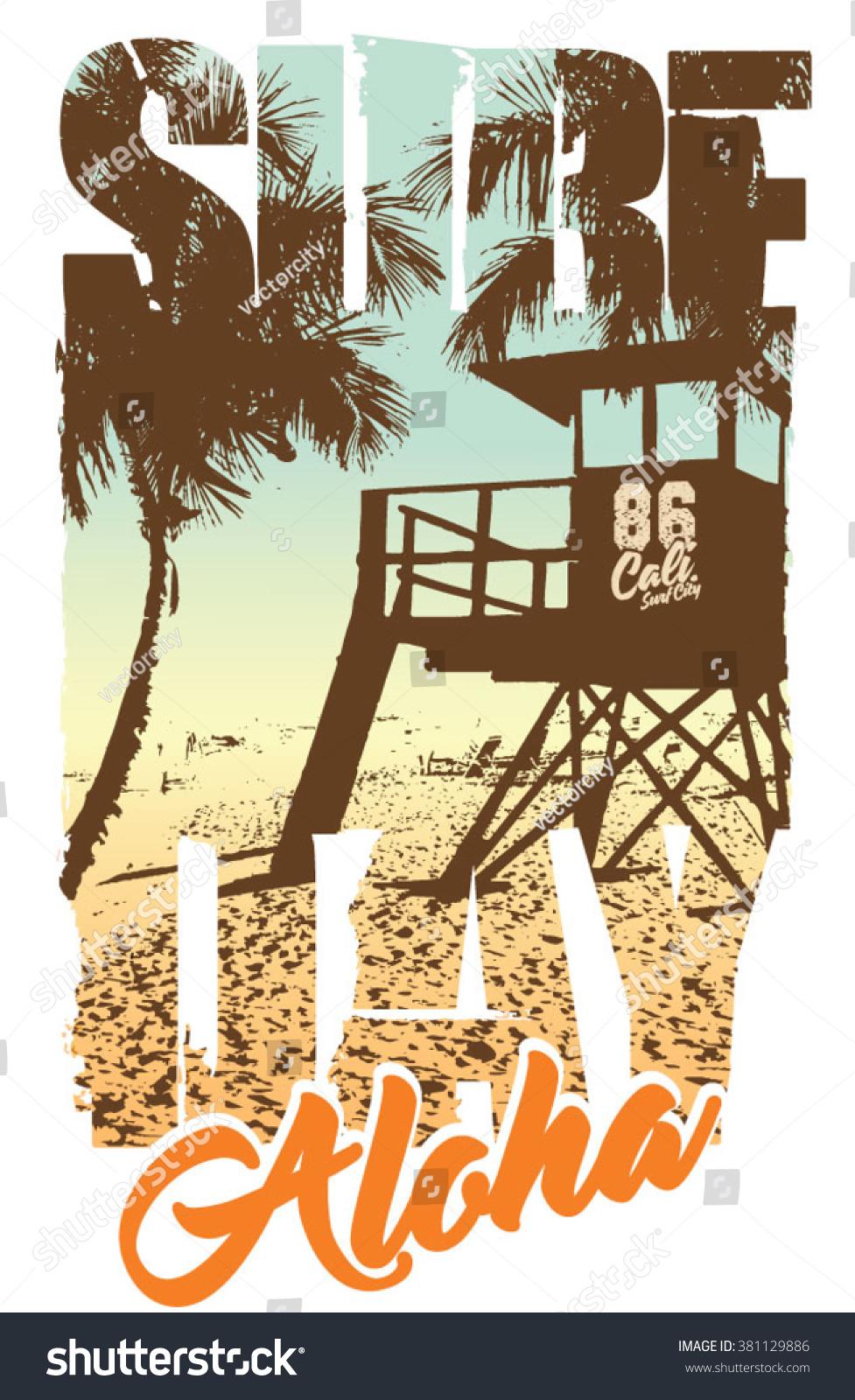 Shirt design graphics - Surf Graphic T Shirt Printing Surfing Design
