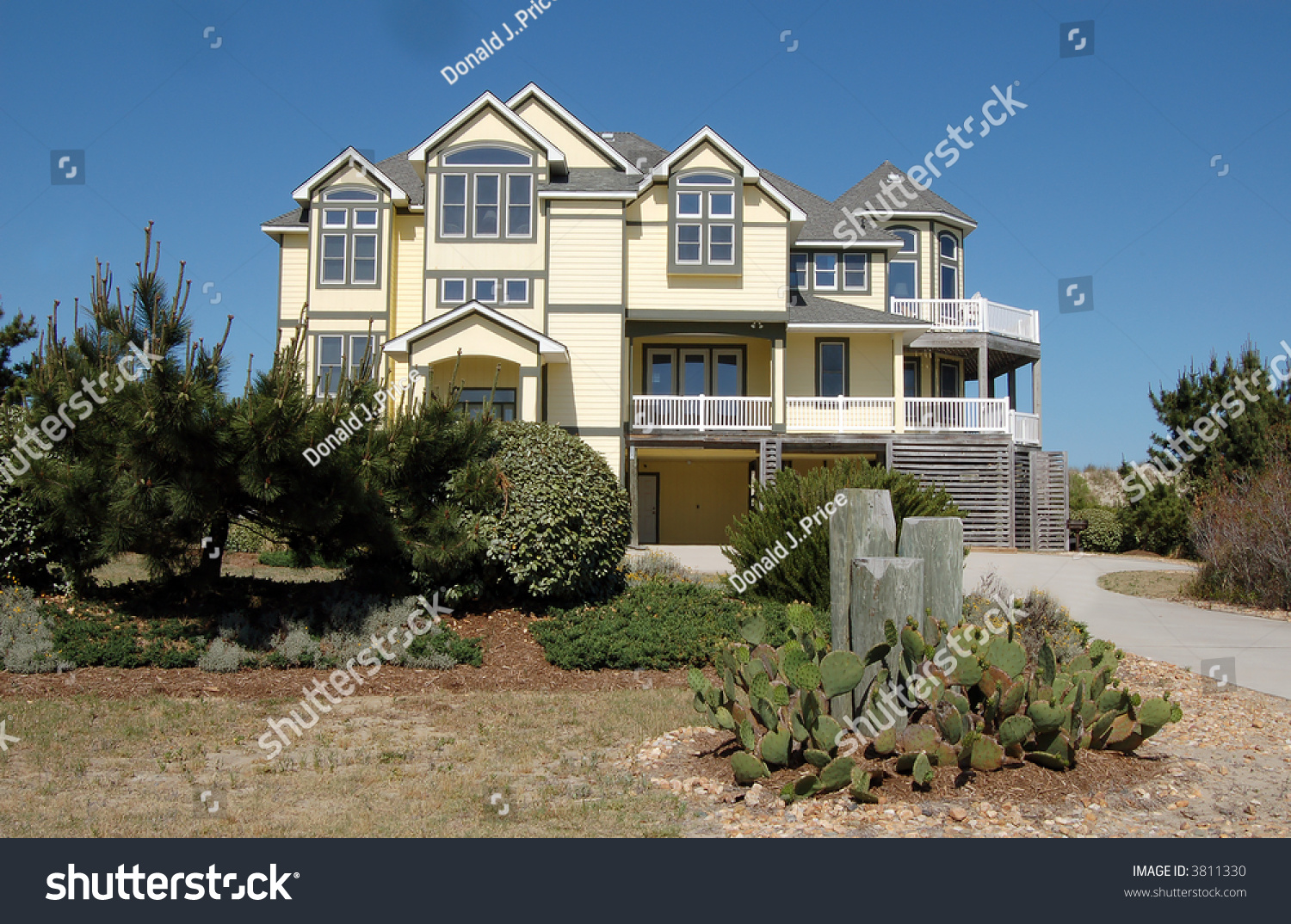 Beach house outer banks north carolina stock photo 3811330 for Beach house plans outer banks