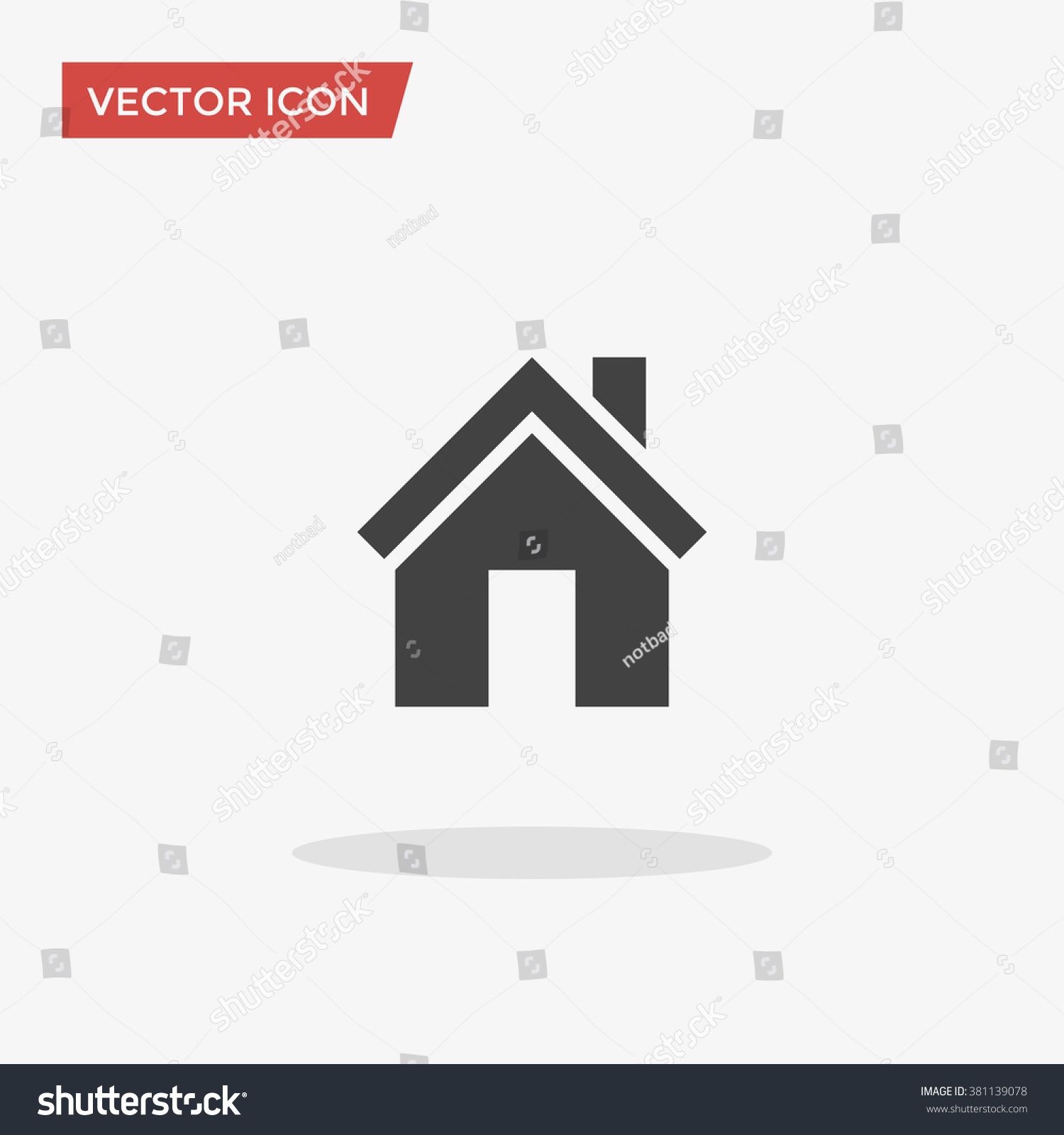 House icon trendy flat style isolated stock vector for House music symbol