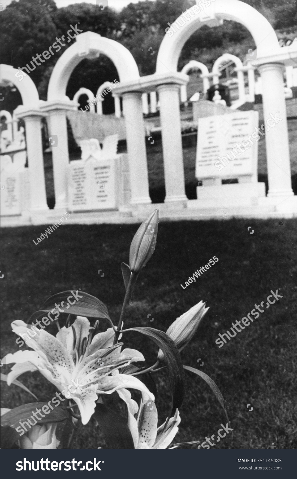 Royalty Free Aberfan Disaster Cemetery With Matching