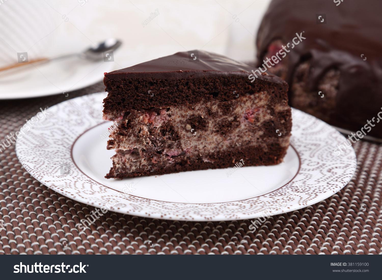 Chocolate Cake Chocolate Sauce Stock Photo 381159100