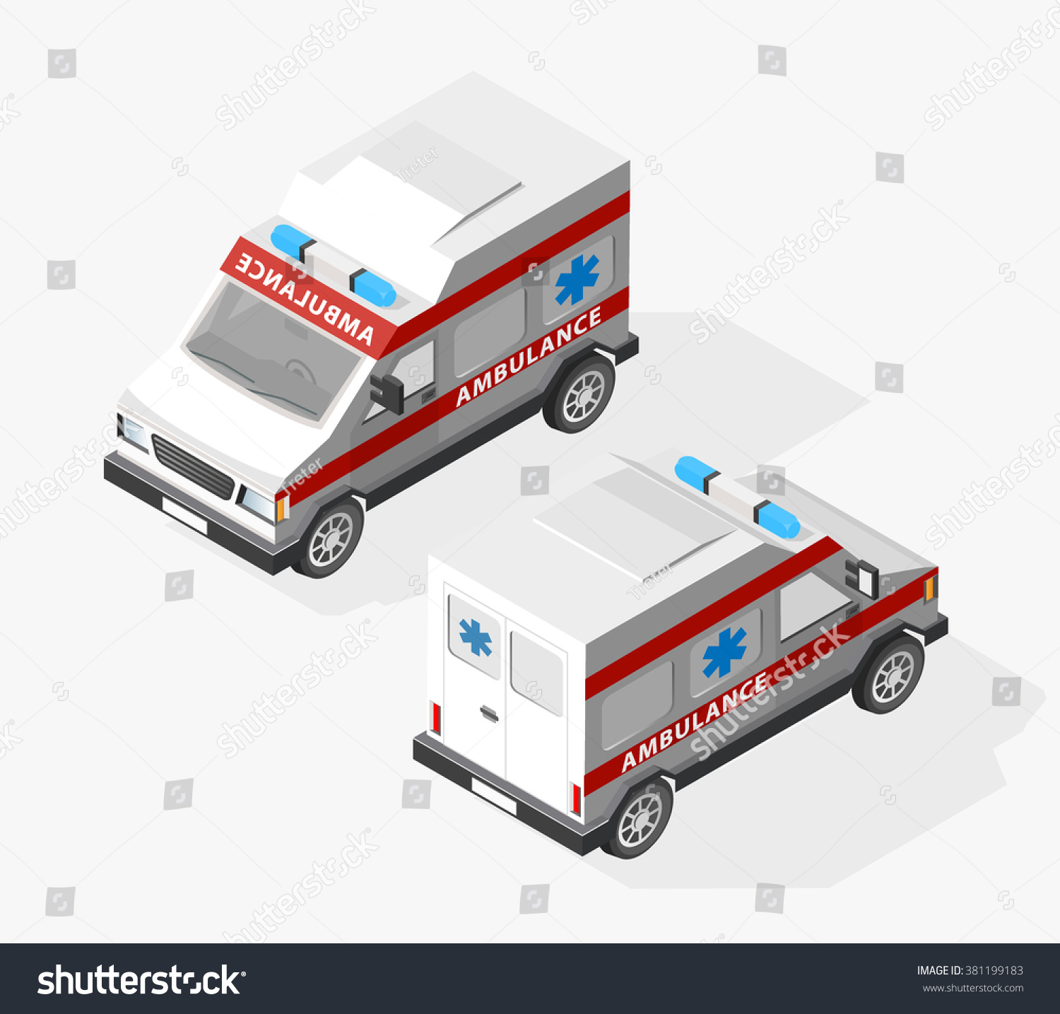Set Isolated High Quality Isometric City Stock Vector 381199183 ...