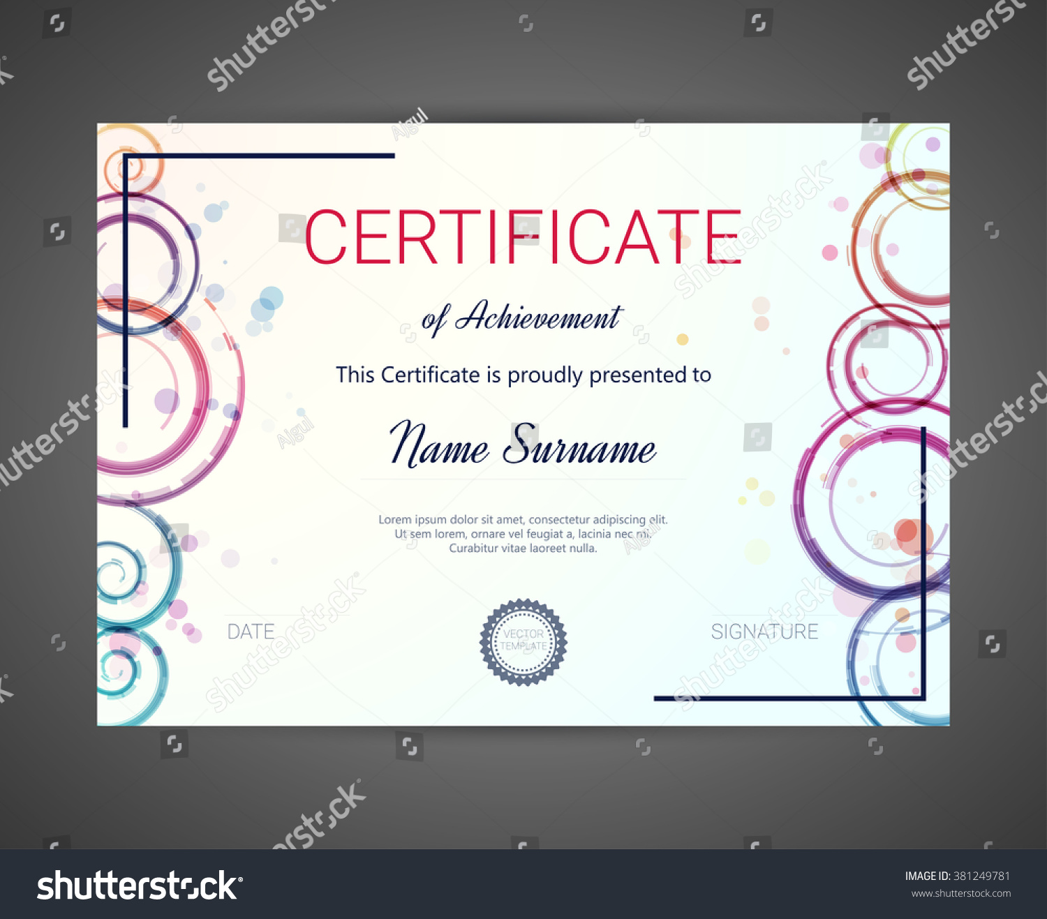 Certificate diploma template vector illustration stock vector certificate or diploma template vector illustration yadclub Image collections