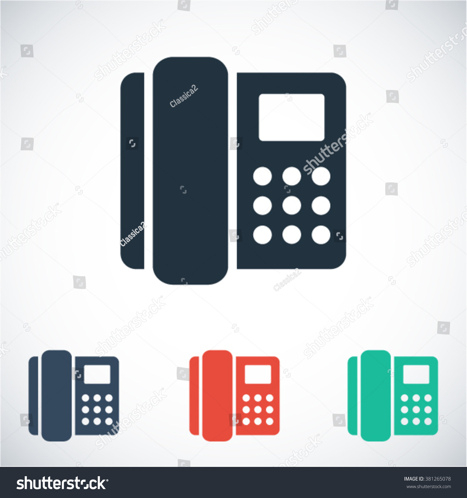 Home Phone Icon Stock Vector 381265078 - Shutterstock