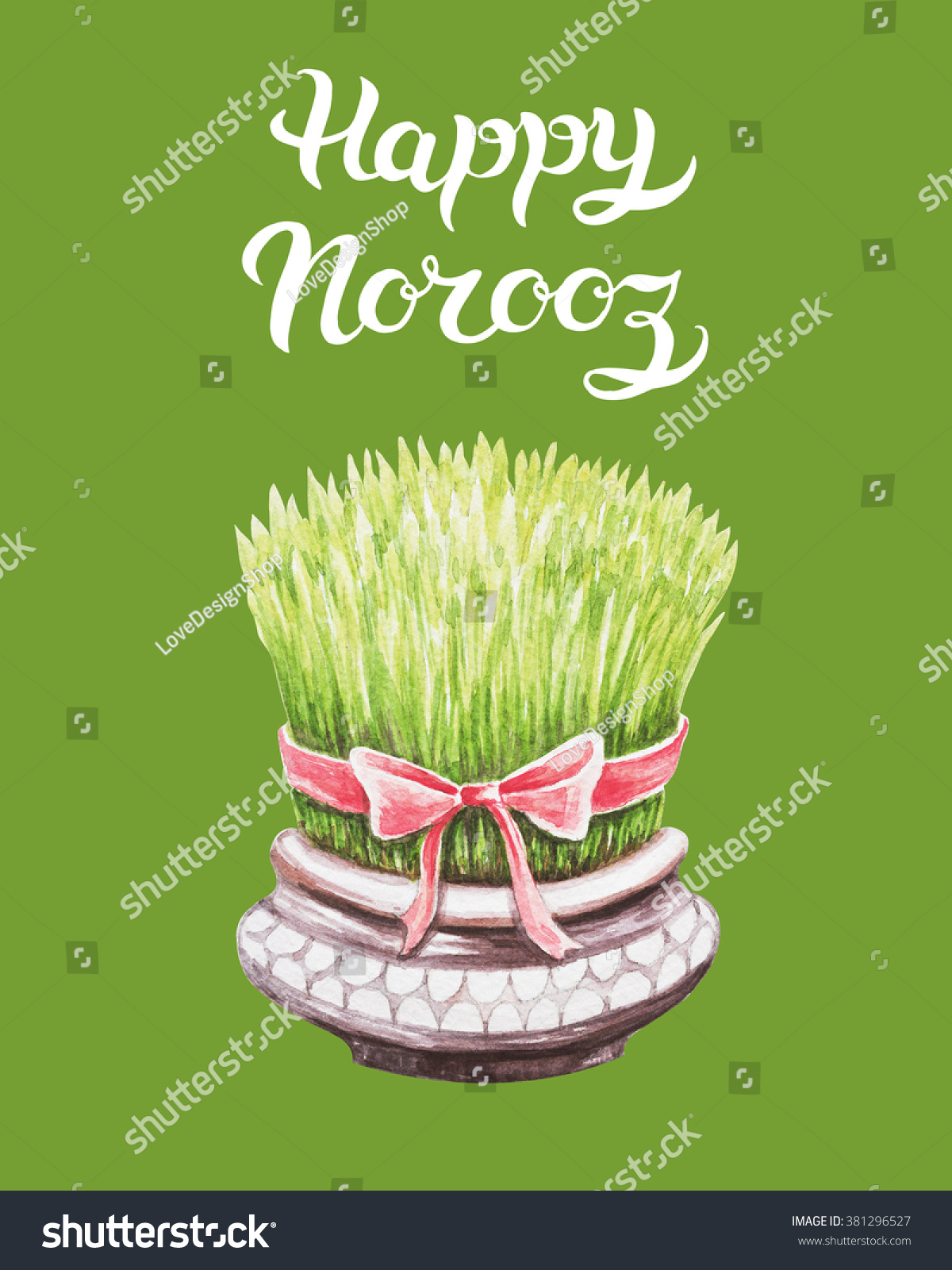 Royalty free stock illustration of hand drawn greeting card title hand drawn greeting card with title happy norooz word norooz mean m4hsunfo
