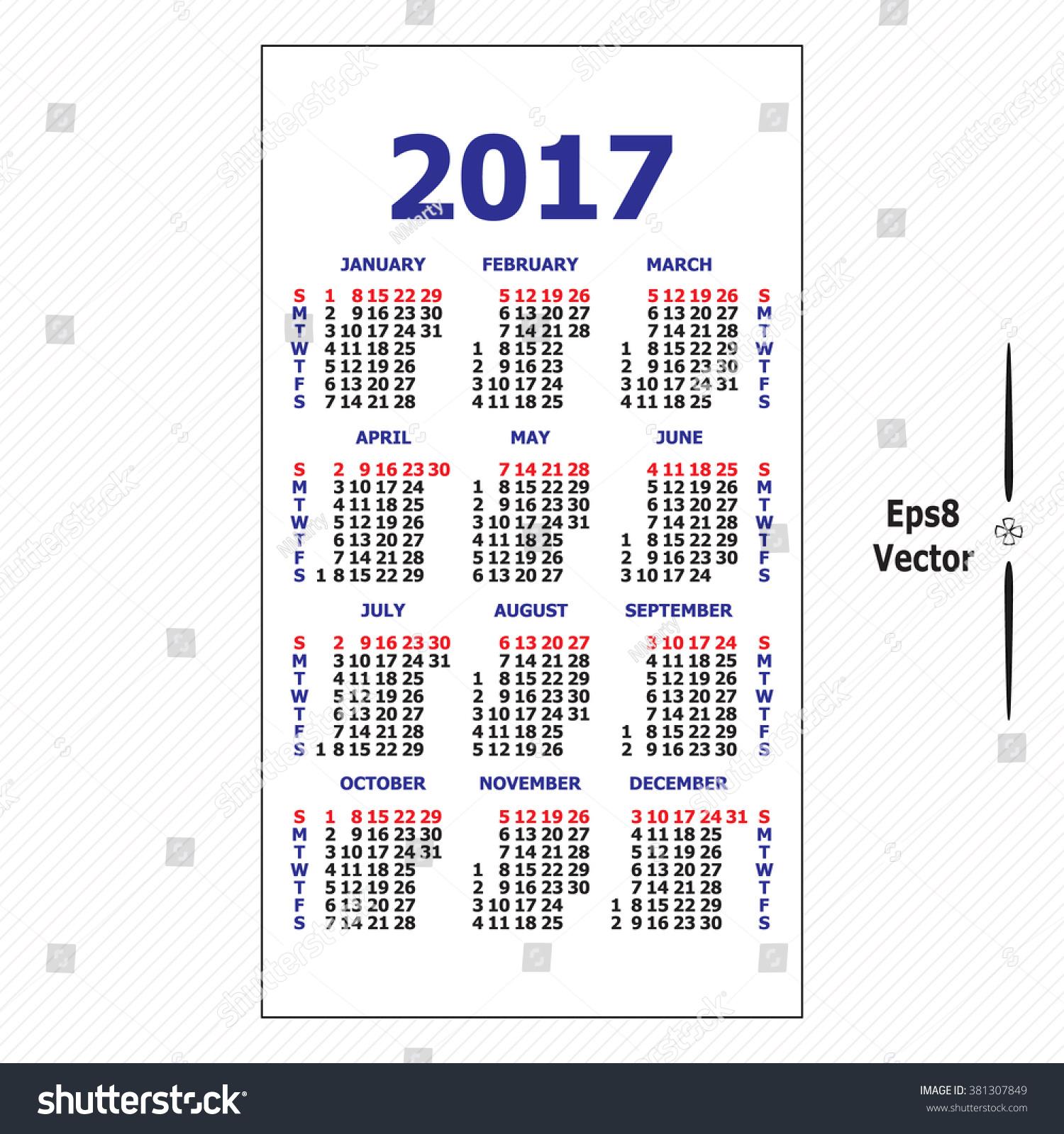 calendar. Template calendar grid. Vertical orientation of days of week ...