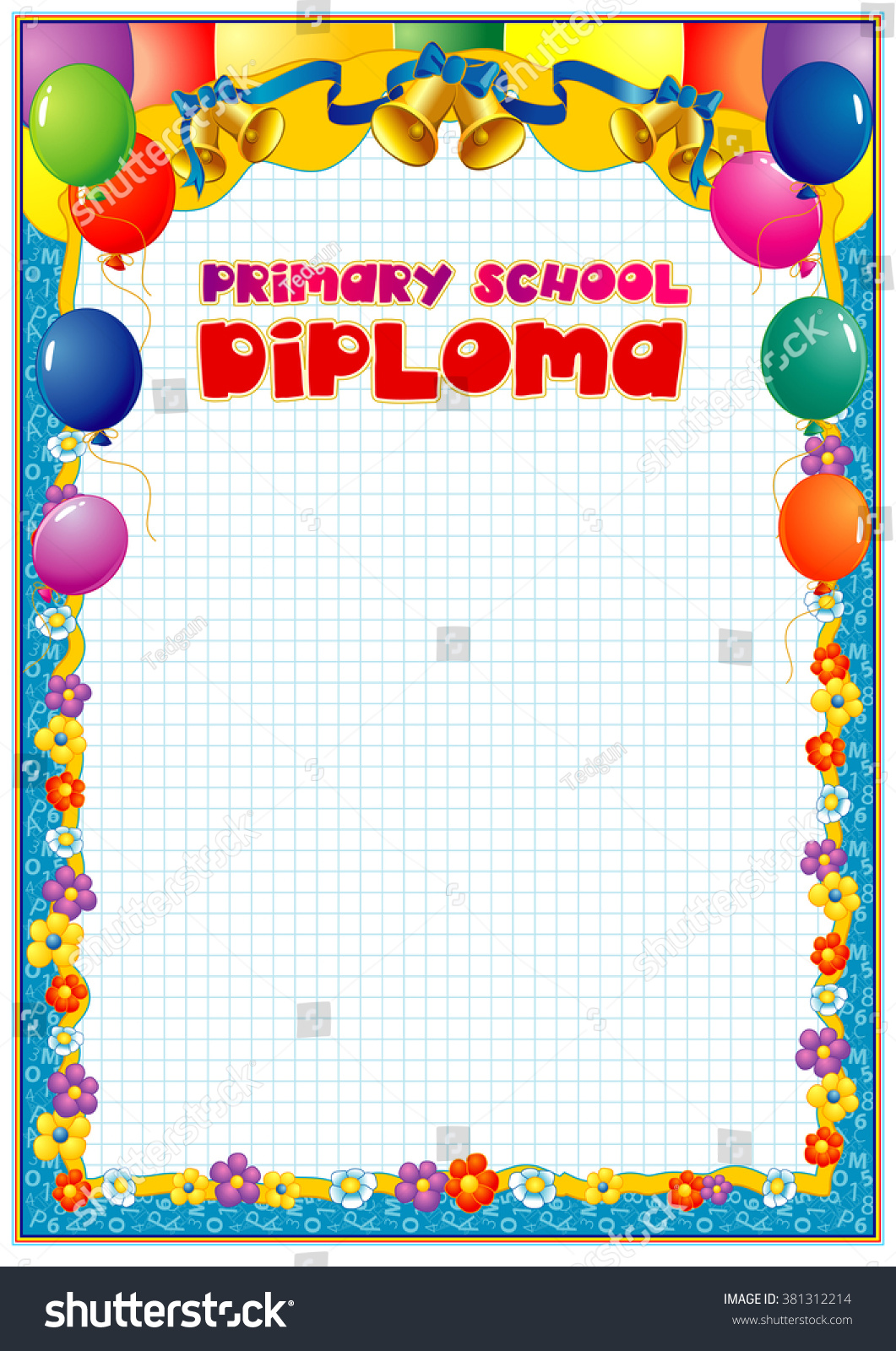primary school diploma stock vector shutterstock primary school diploma