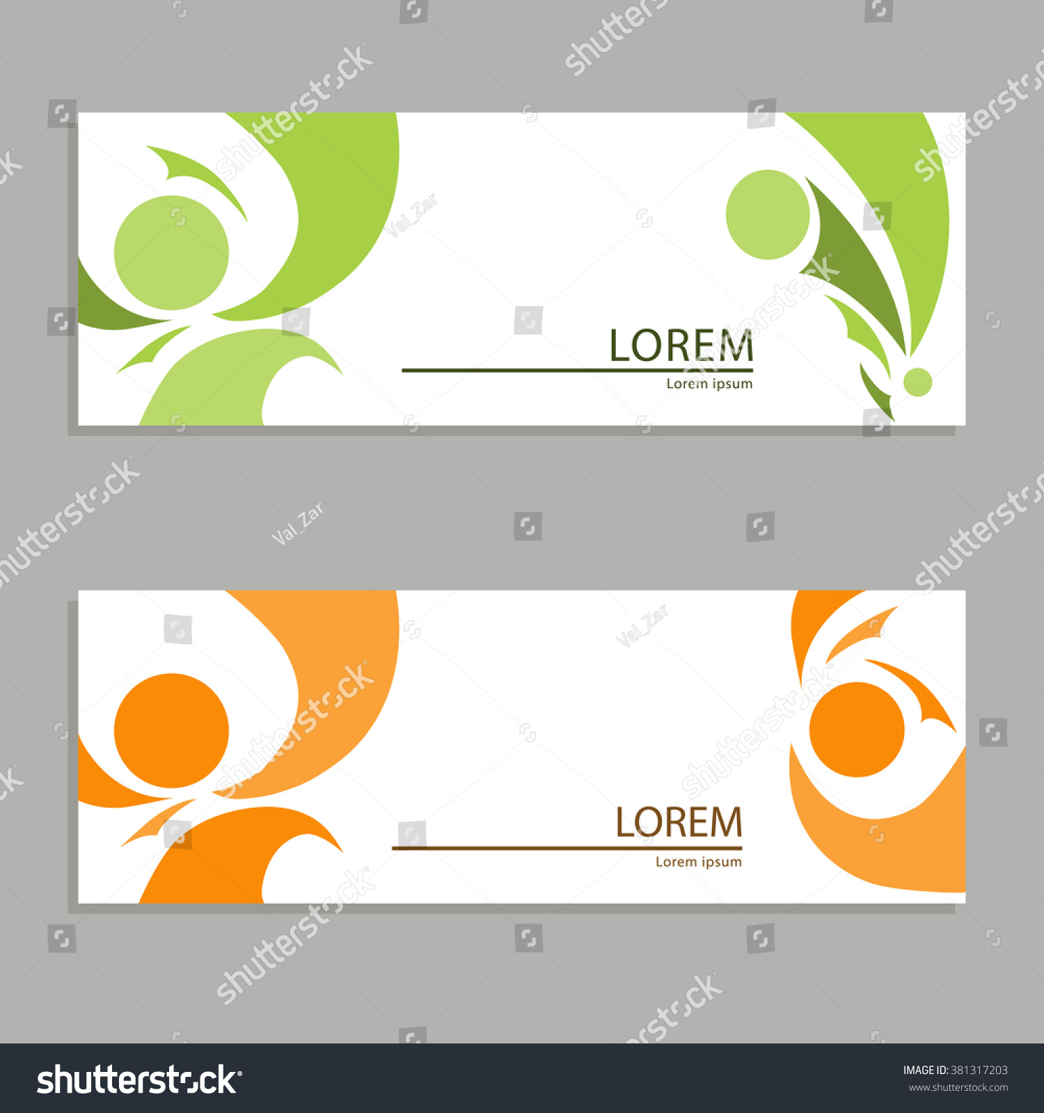 Creative Business Card Banner Flyer Coupon Stock Vector 381317203 ...