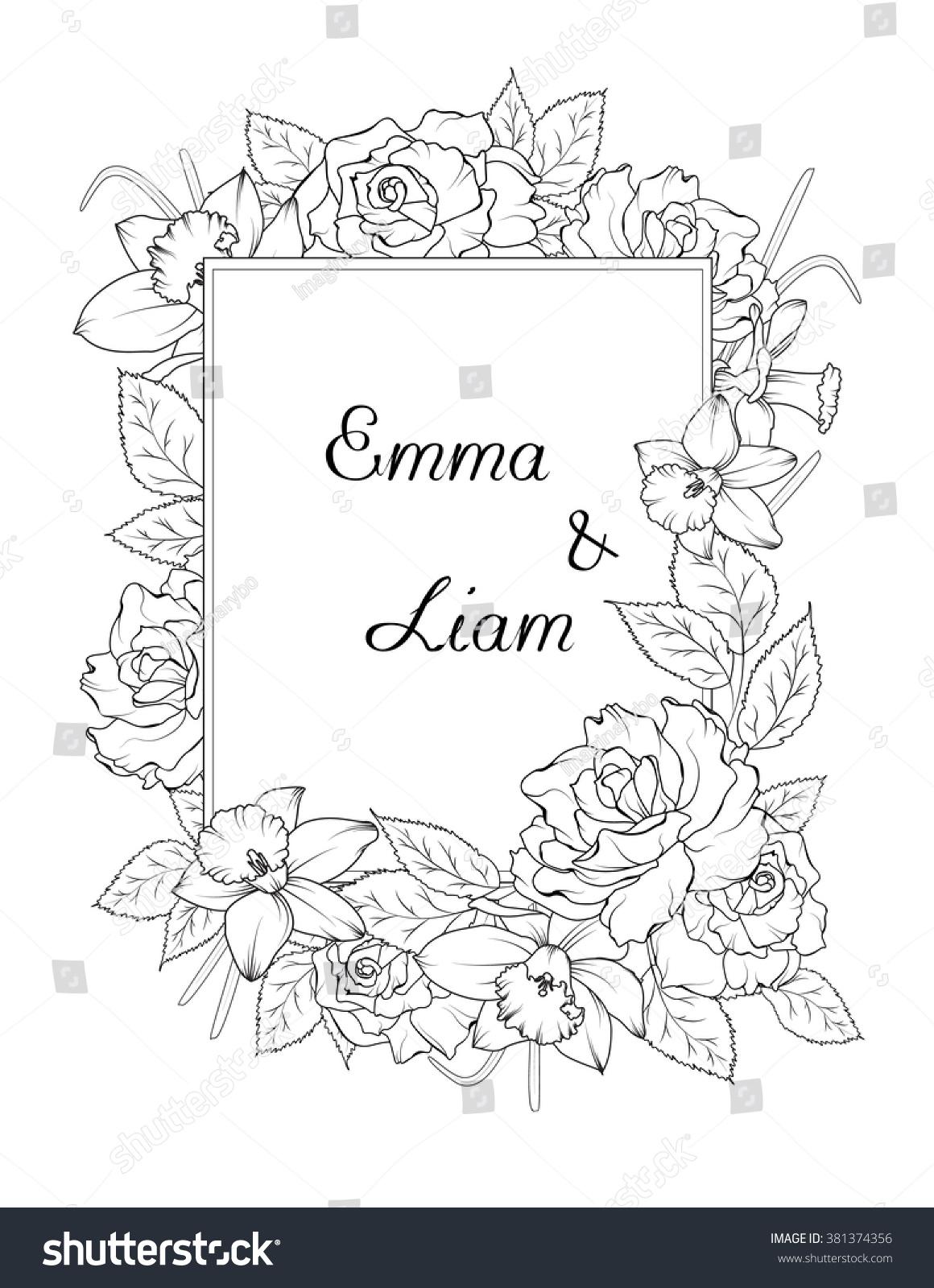 Wedding Coloring Book Template - Virtren.com