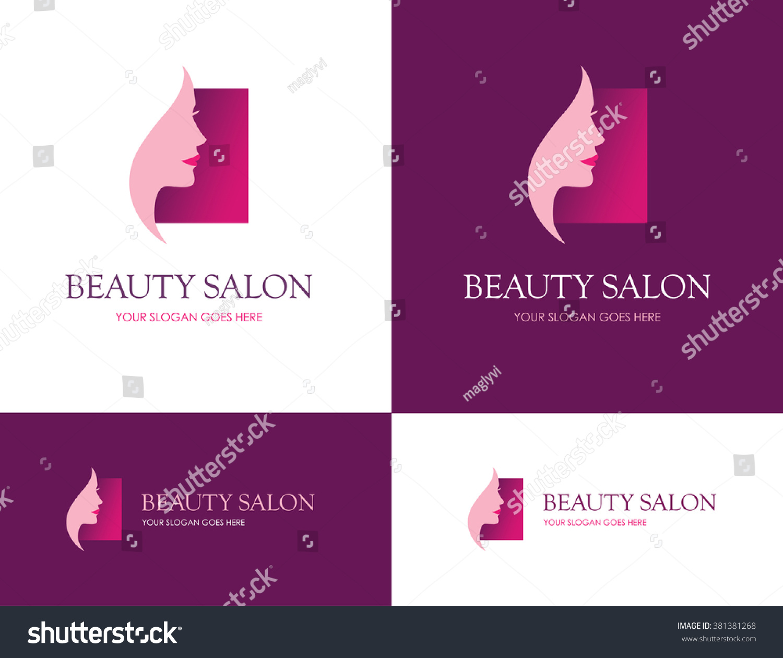 Square logo beauty salon face skin stock vector 381381268 for Skins beauty salon
