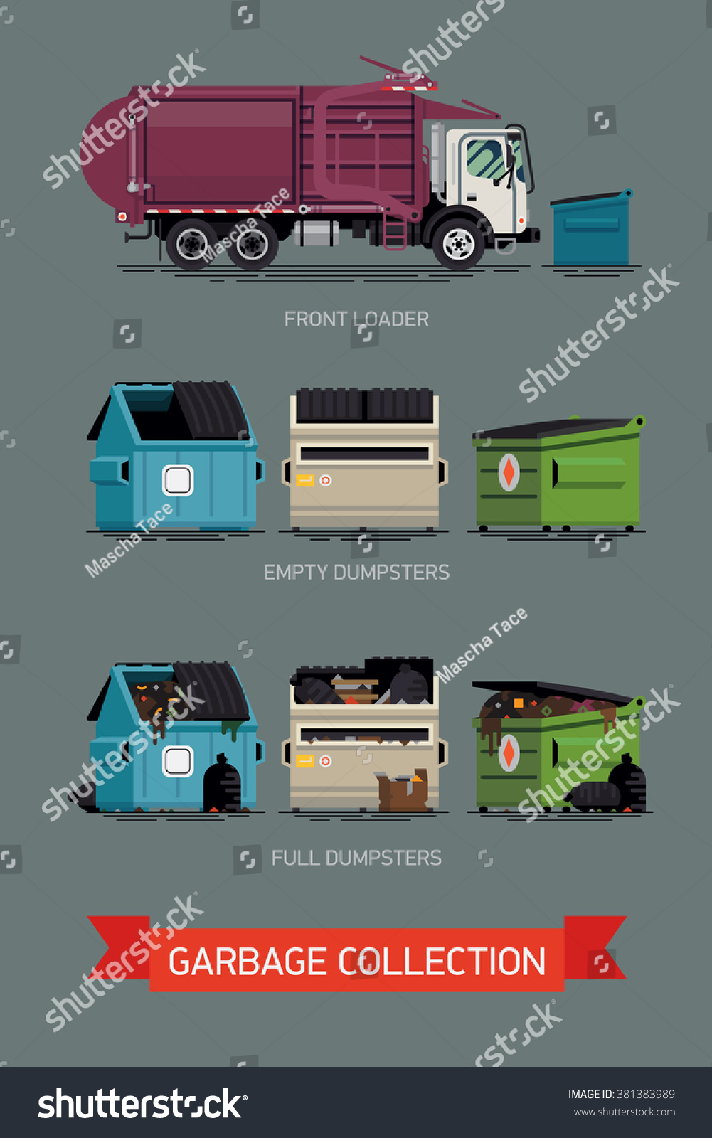 Vector E Sanitary Service : Cool set vector icons on city stock