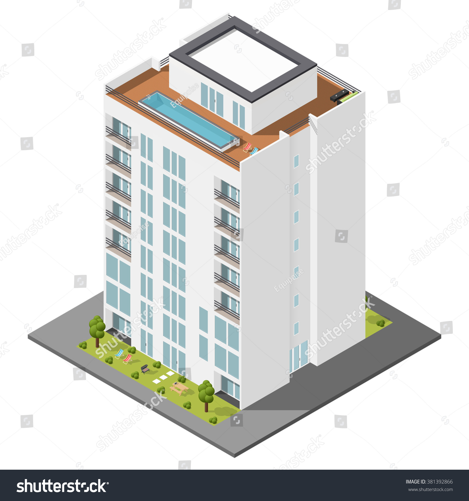 residential house private garden penthouse apartments