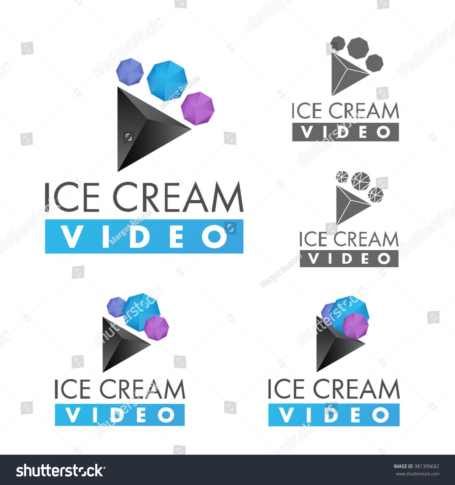 Video Logo Template Movie Logos Set Stock Vector 381399682 ...