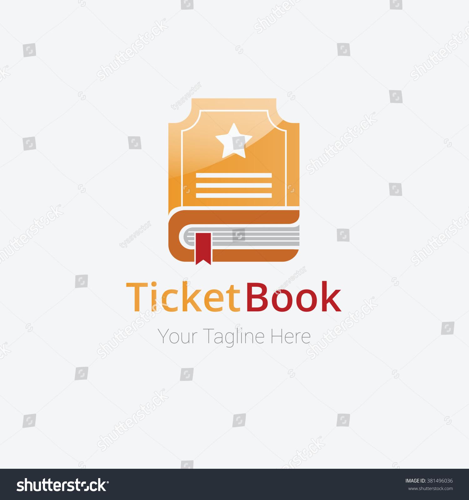 ticket book logo template design vector stock vector royalty free