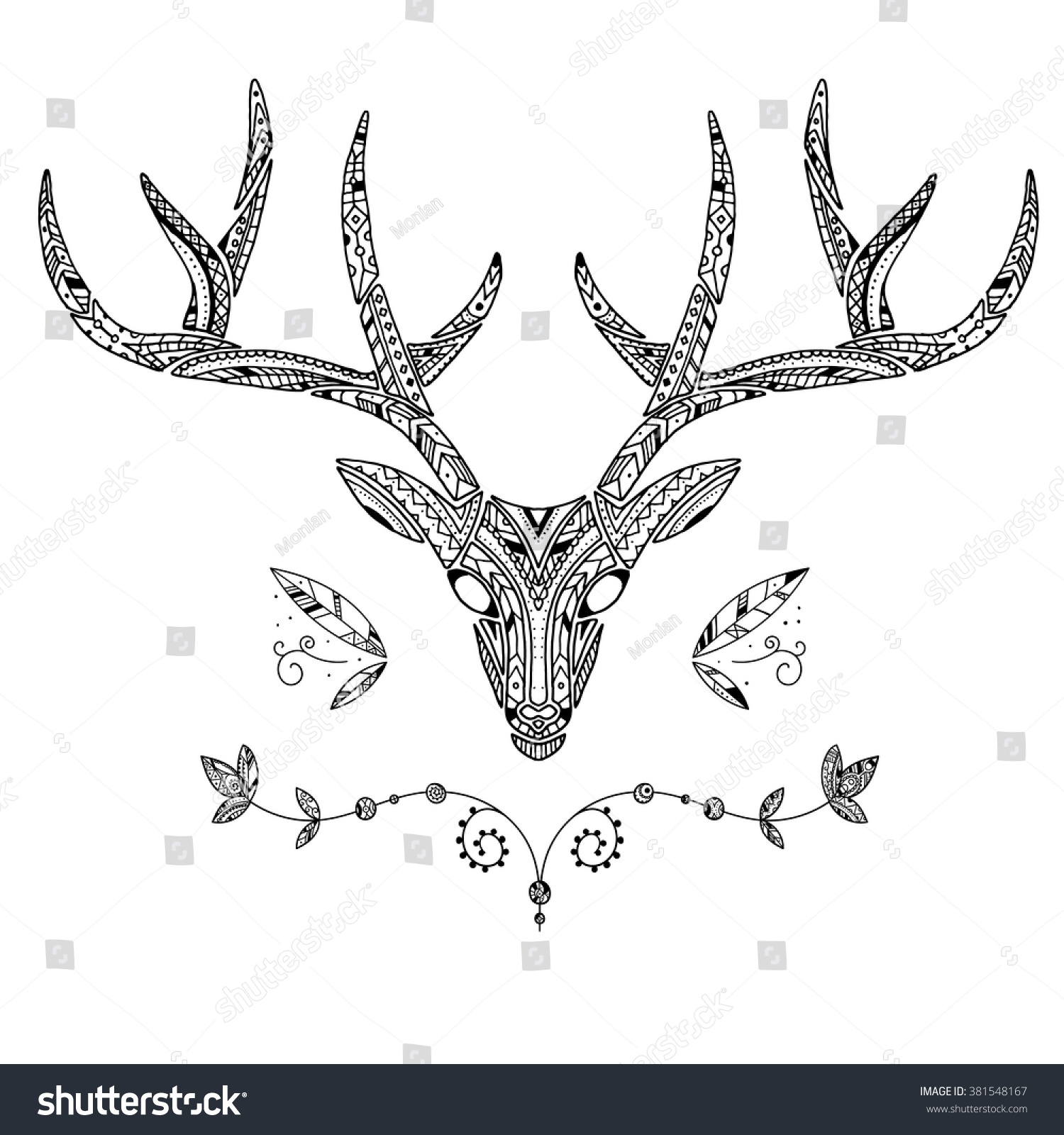 Decorated Boho Apache Vintage Style Hand Stock Vector Royalty Free