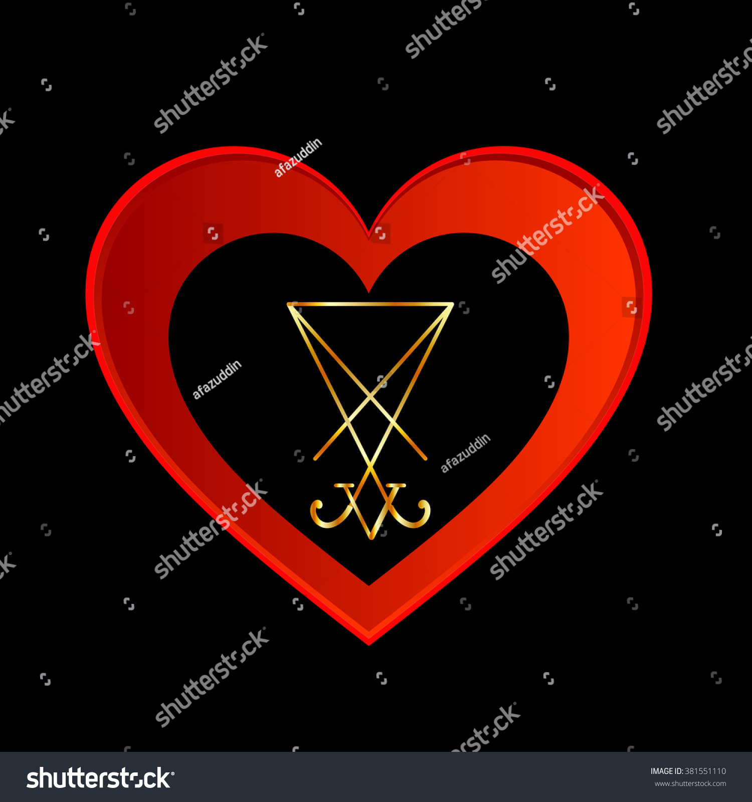 Sigil lucifer within heart stock vector 381551110 shutterstock sigil of lucifer within a heart biocorpaavc Images
