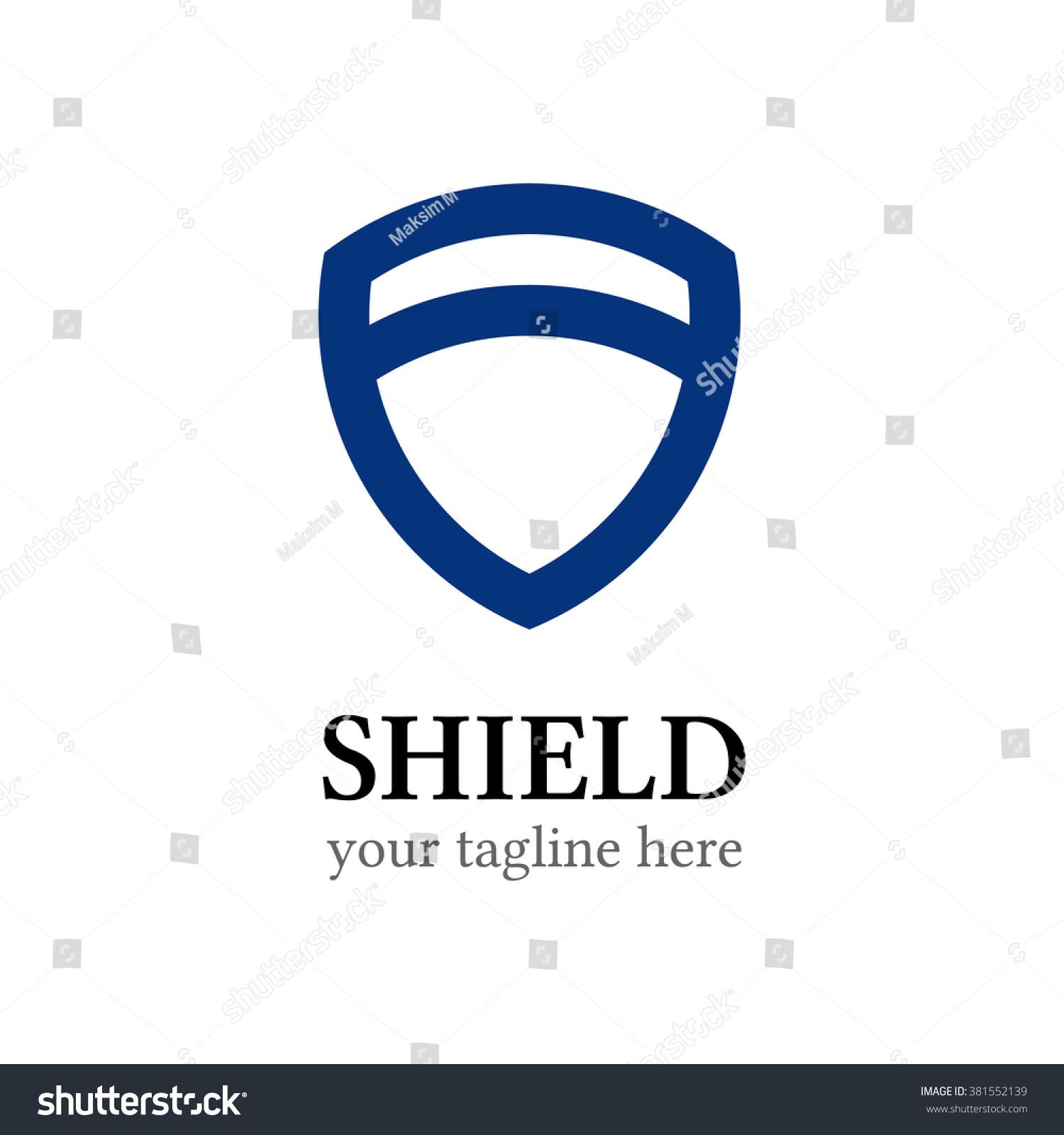 Shield Logo Template Shield Icon Abstract Stock Illustration ...