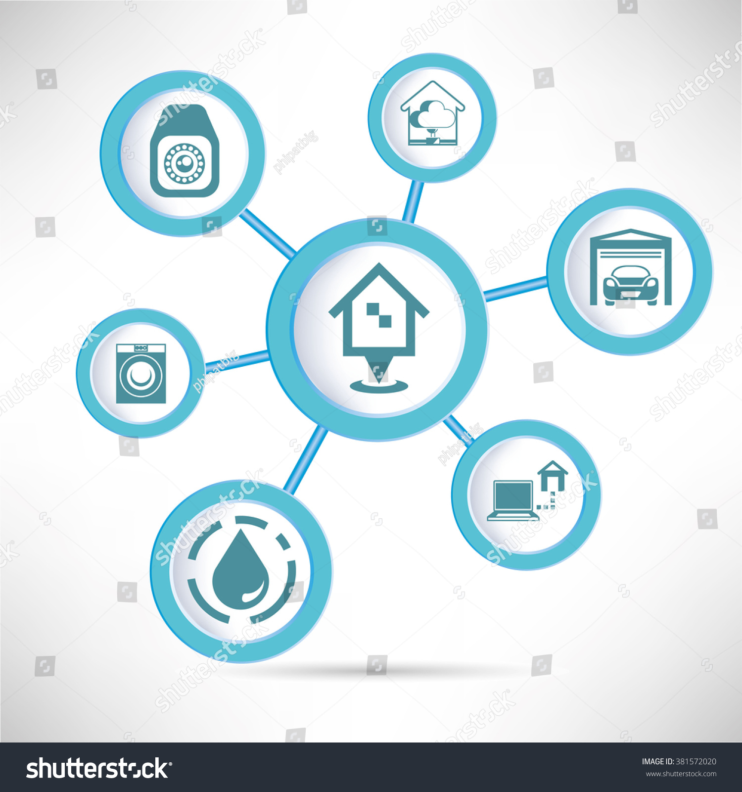 Smart Home Concept Home Automation Infographic Stock Vector (Royalty ...