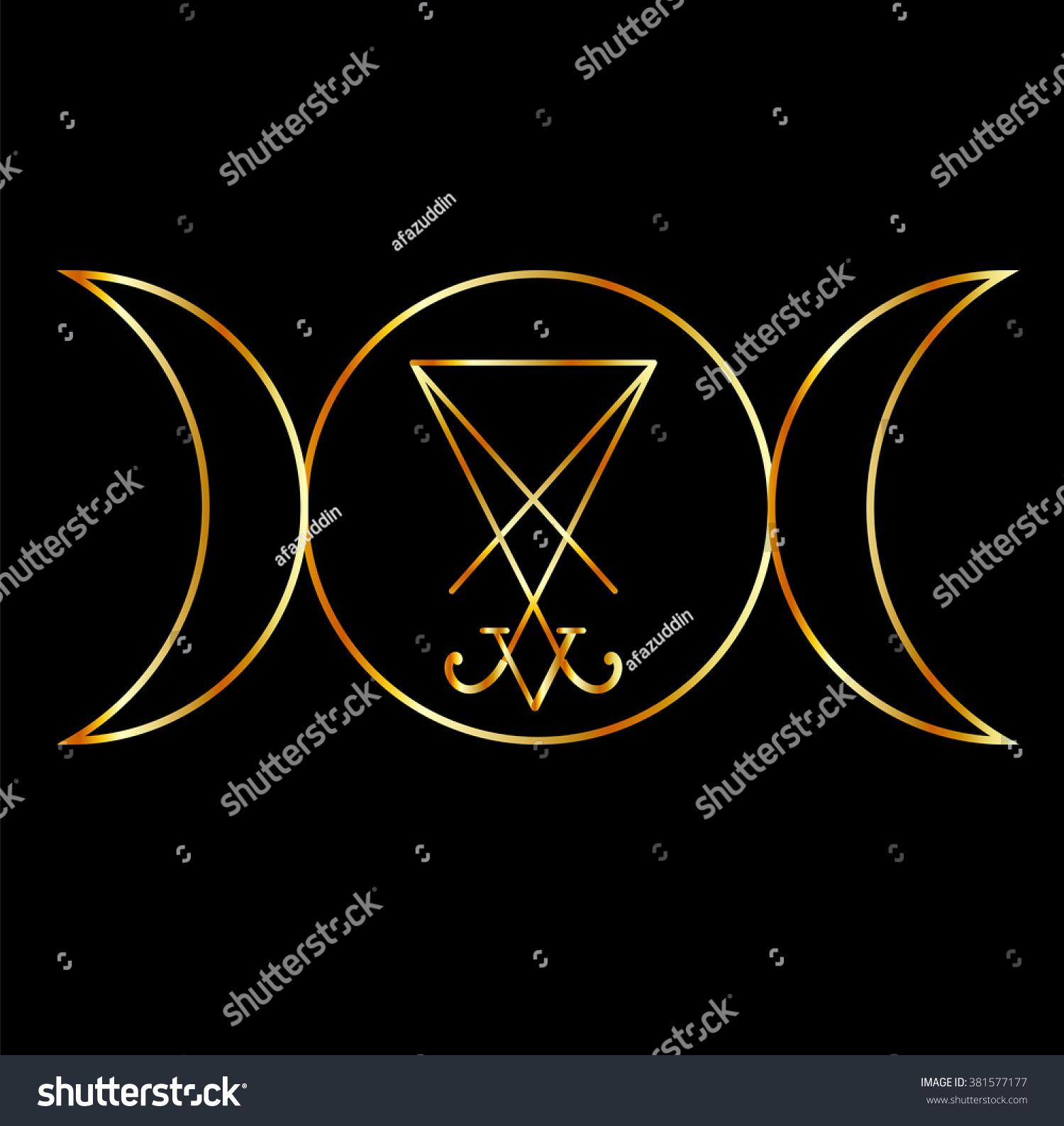 Wiccan Symbol Triple Goddess Sigil Lucifer Stock Vector Royalty