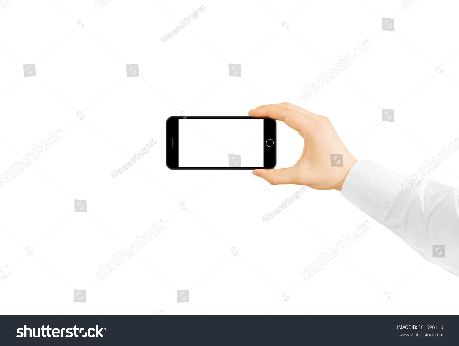 Free self shot pictures Man Hold Phone Blank Screen Mockup In Hand Royalty Free Stock Photo 381596116 Avopix Com