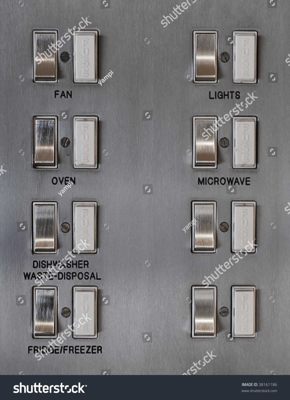 kitchen fuse box switch board stock photo shutterstock kitchen fuse box and switch board