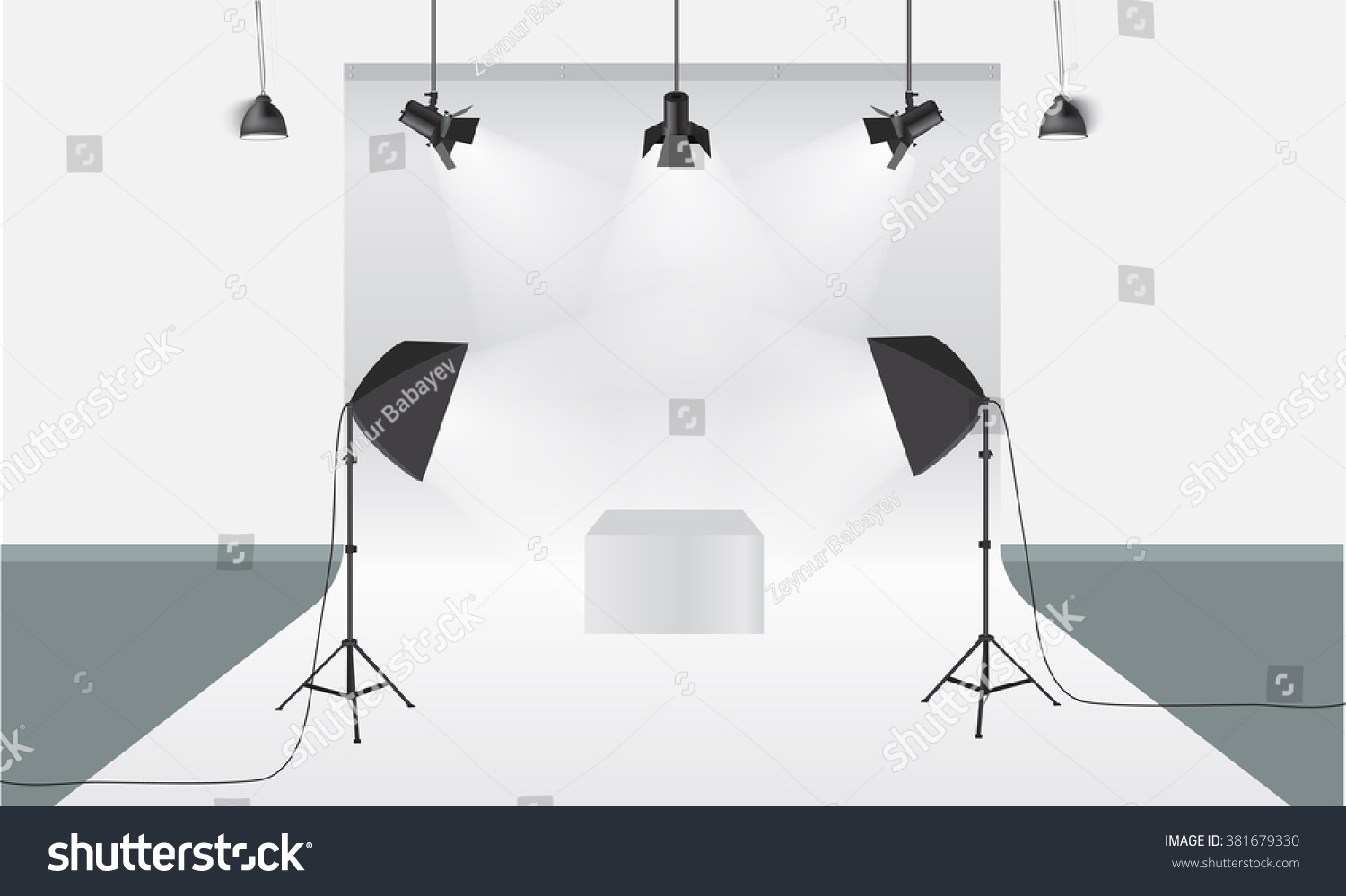 Lighting Equipment And Professional Photography Studio White Blank Diagram Background 3d Illustration For With Light Ez Canvas