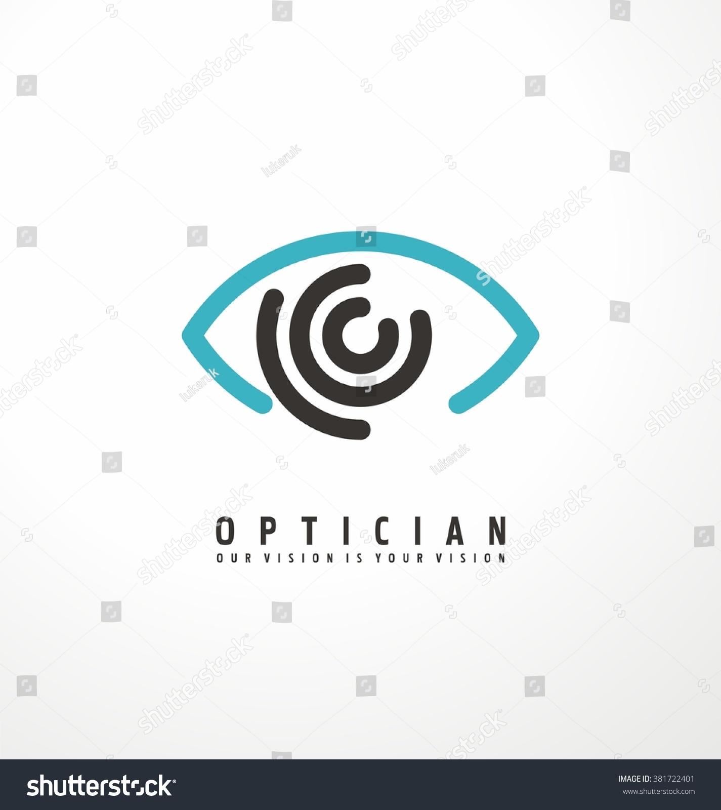 Eye vector logo design idea. Minimalistic logo design layout for ...