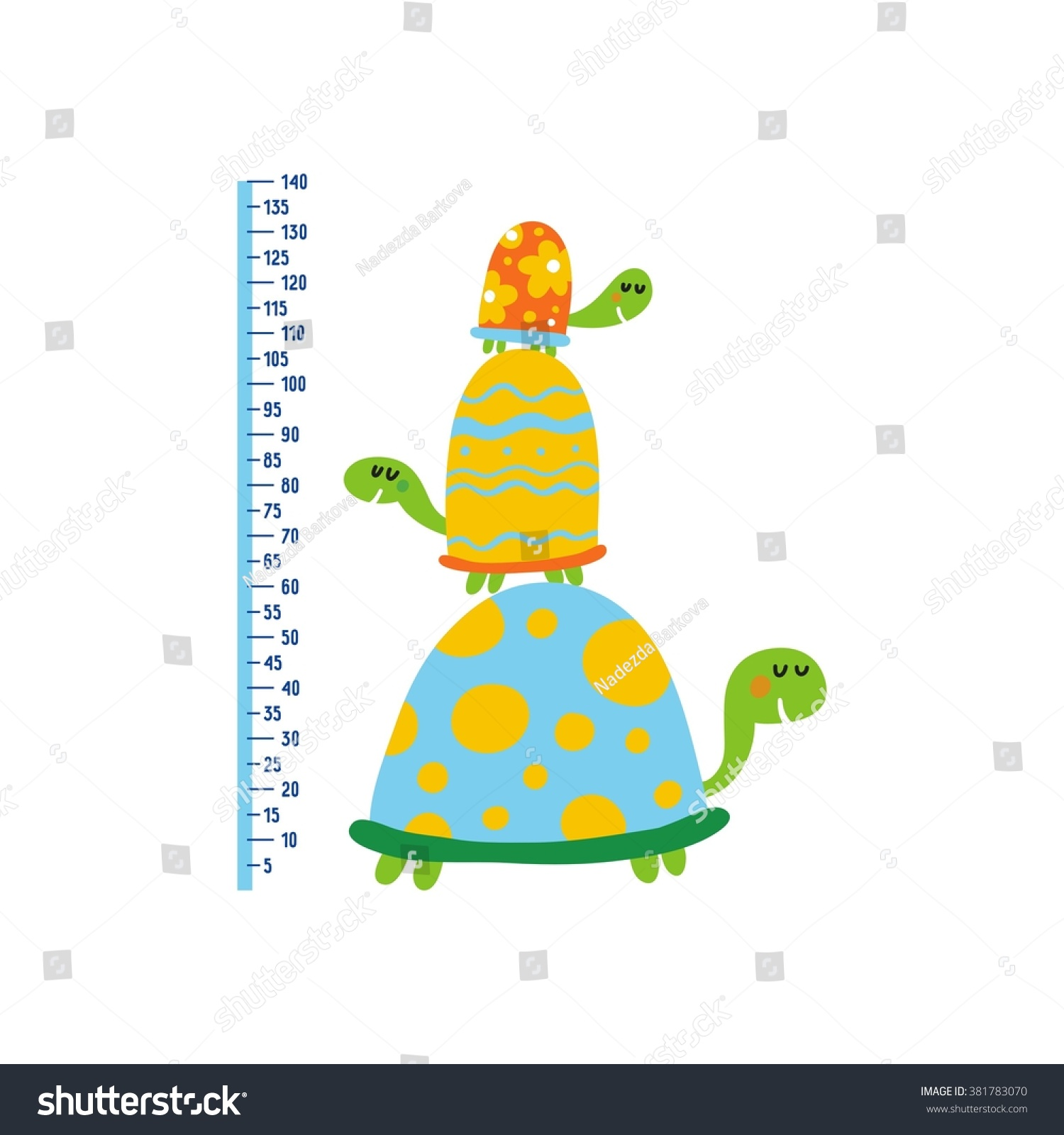 Cute growth charts kids vector print stock vector 381783070 cute growth charts for kids vector print for wall decor nvjuhfo Gallery