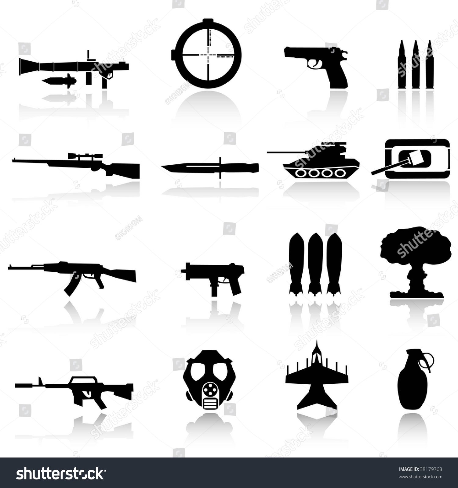 Weapons war stock vector 38179768 shutterstock weapons for war biocorpaavc Images