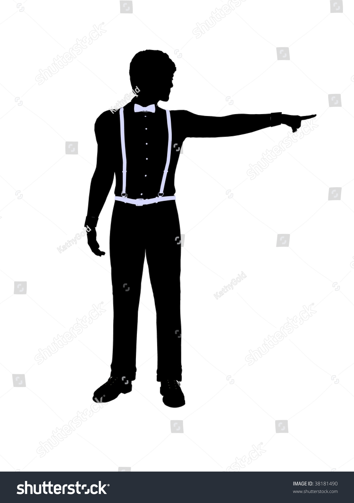 Male Business Silhouette Illustration On White Stock ...