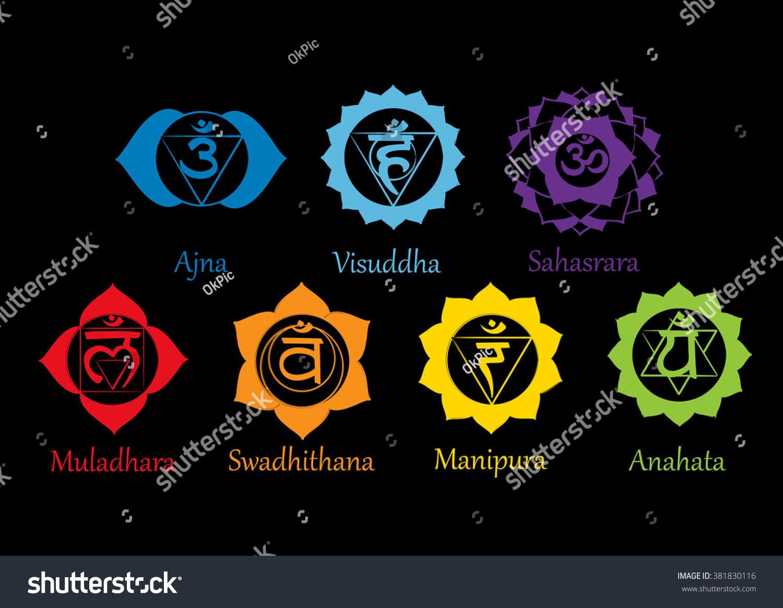 Chakras icons concept chakras used hinduism stock vector 381830116 concept of chakras used in hinduism buddhism and ayurveda for design buycottarizona Gallery