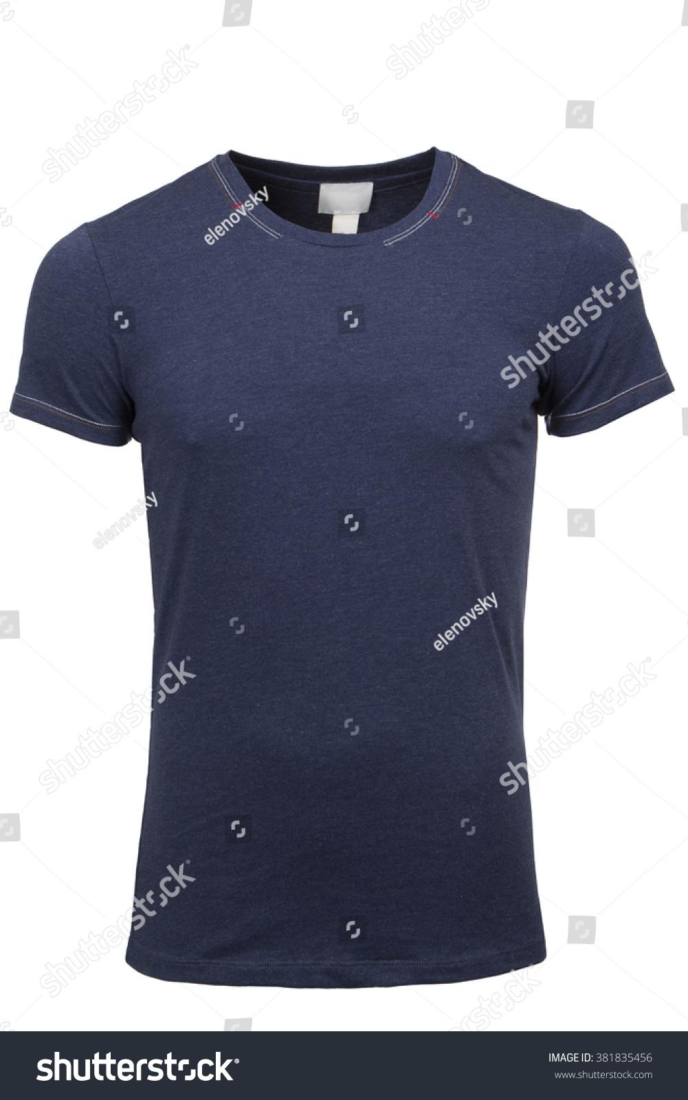 Royalty Free Dark Blue Tshirt Template 381835456 Stock Photo